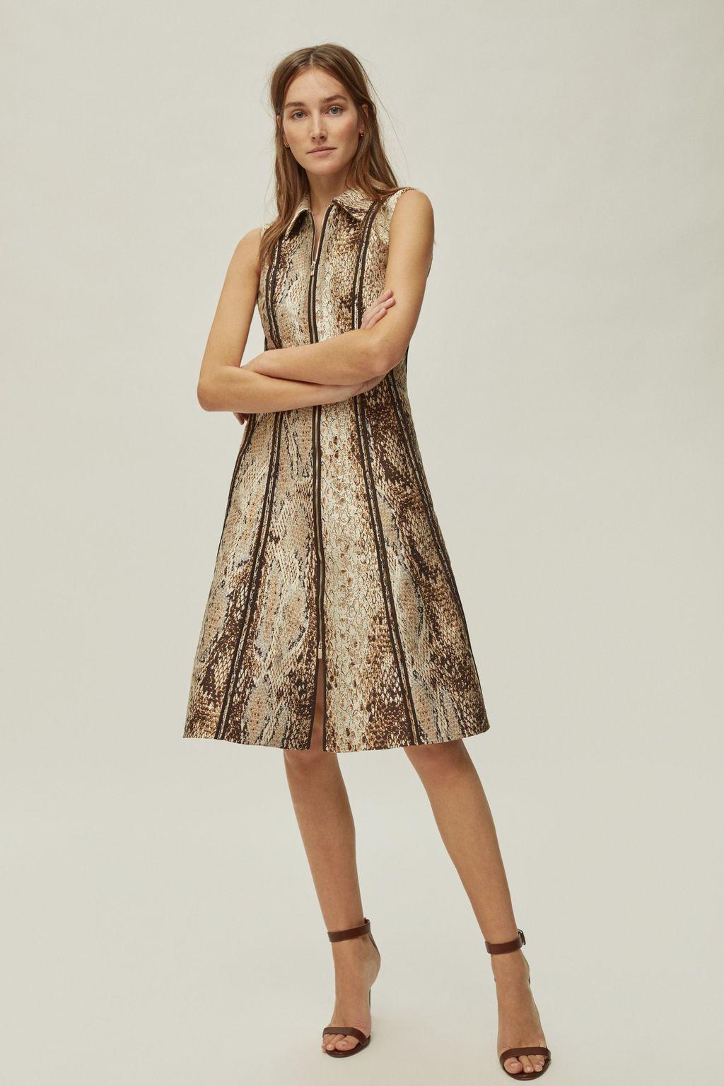Python jacquard dress