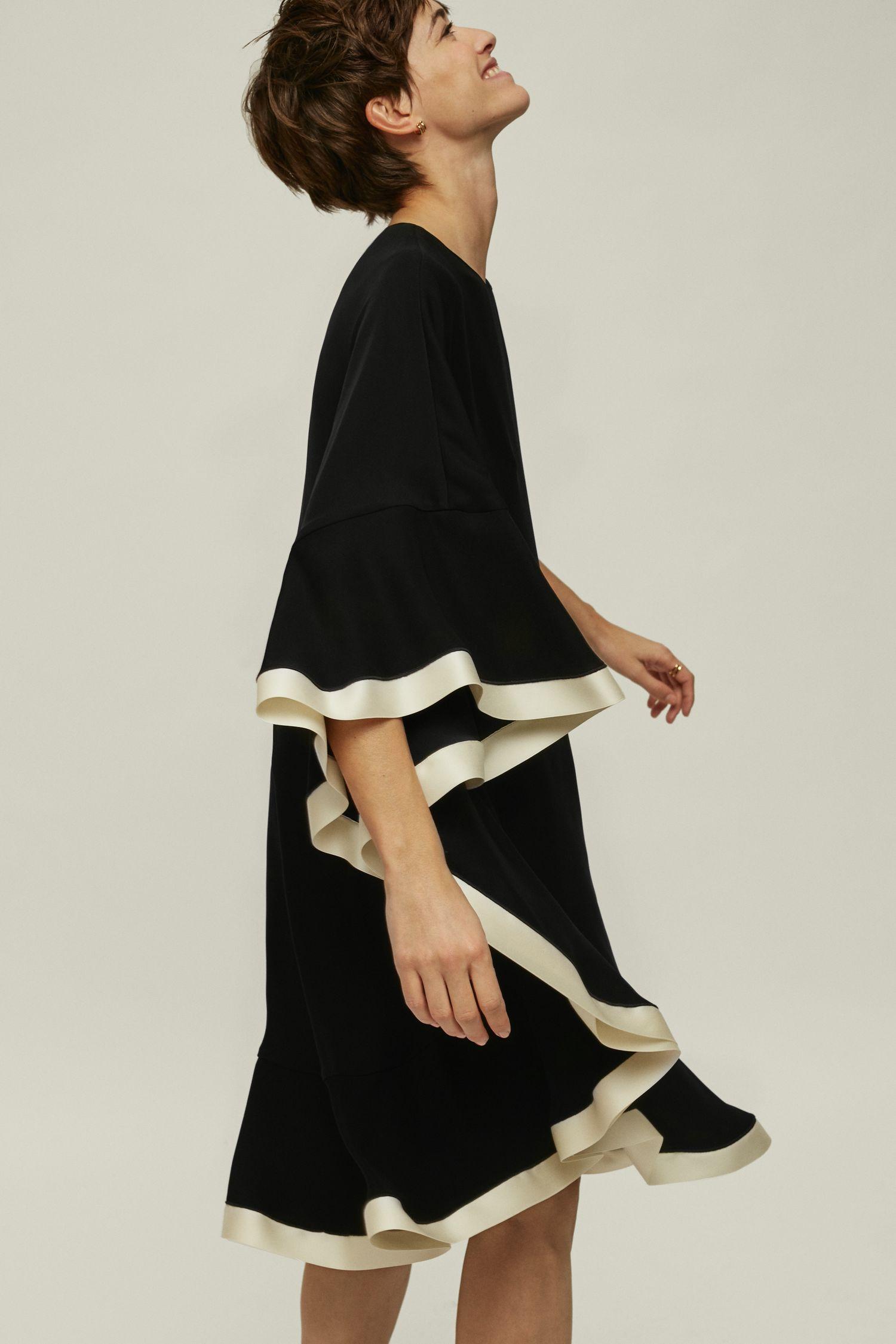 Asymmetric A-line dress