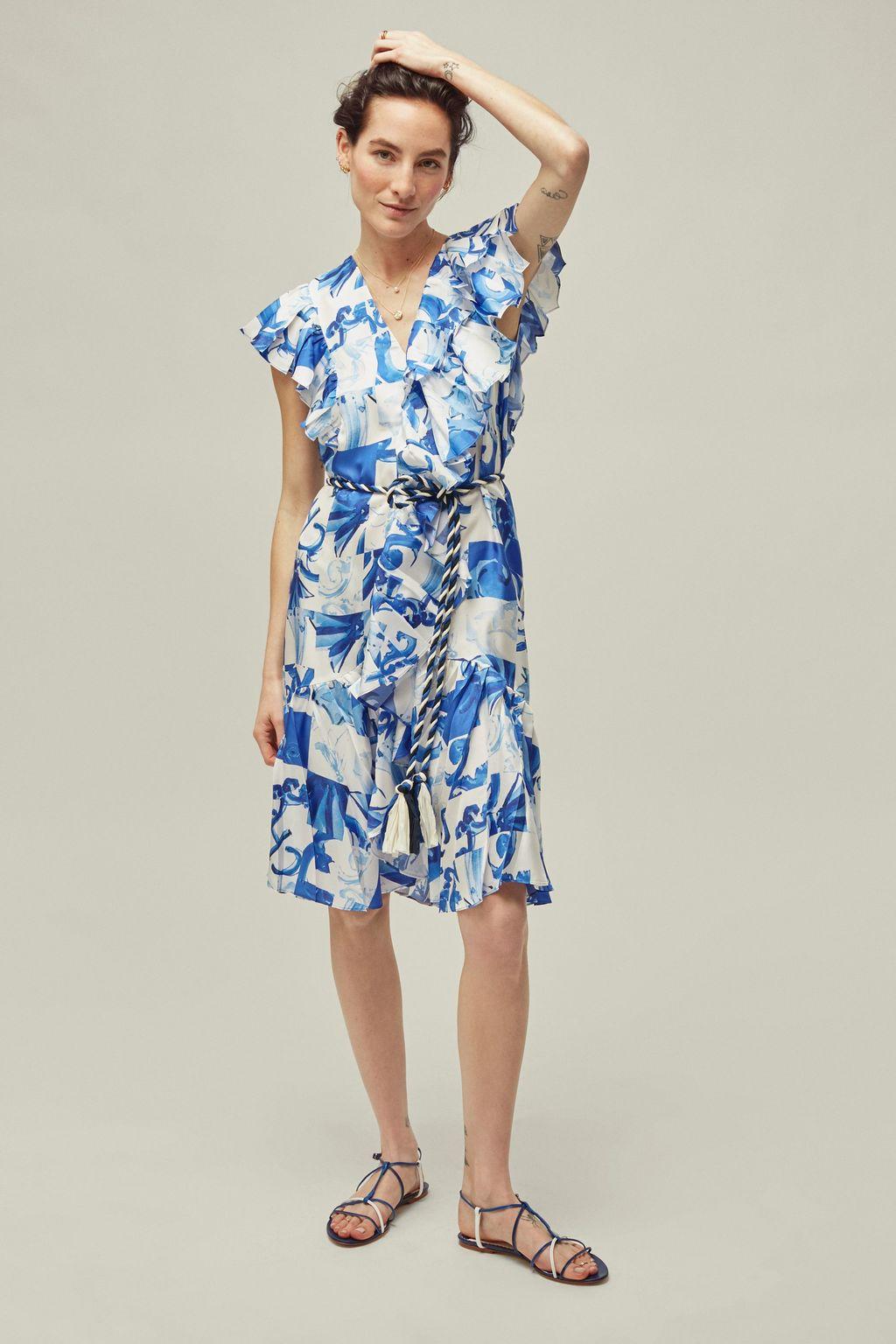 A-line twill dress