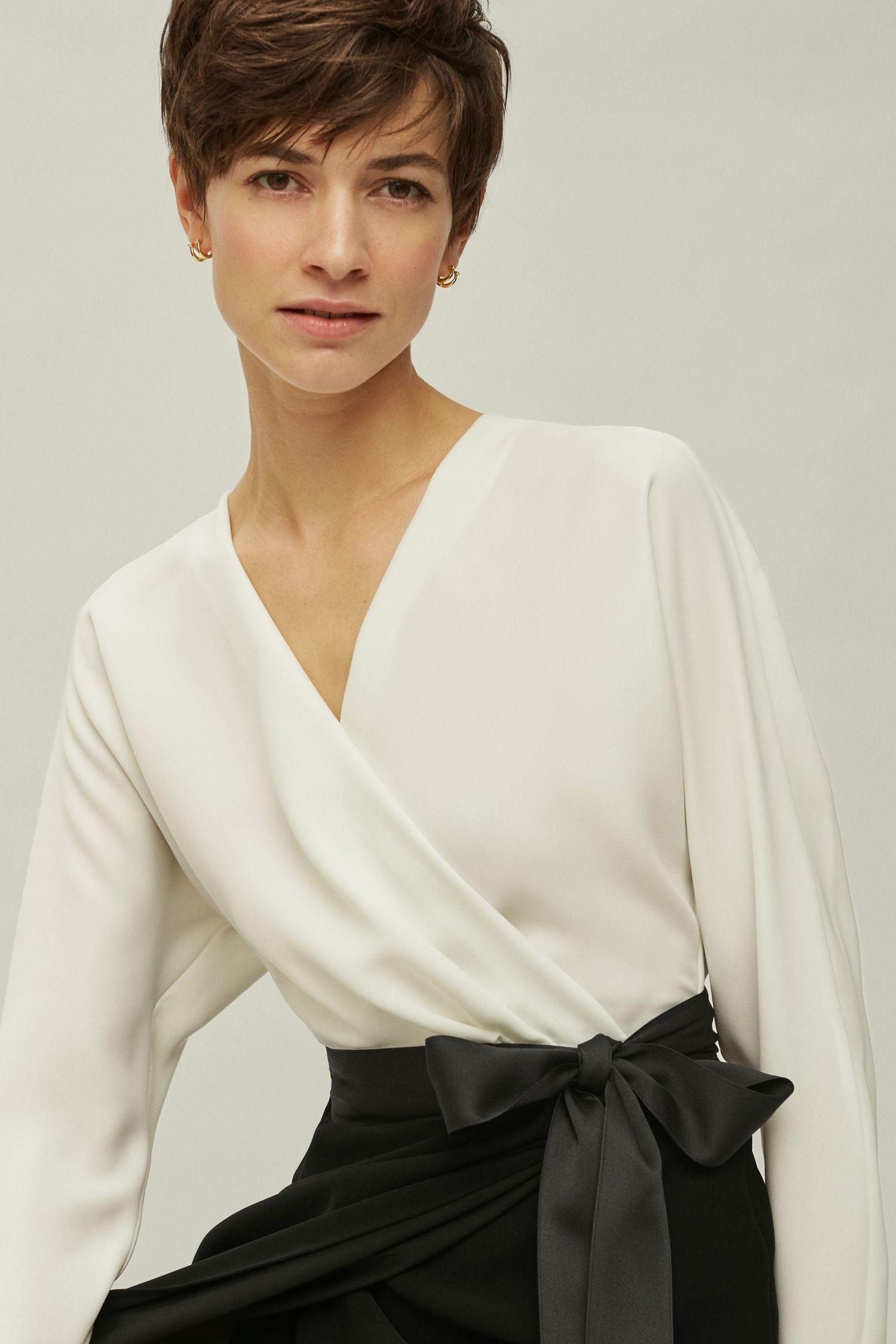 Crepe wrap dress