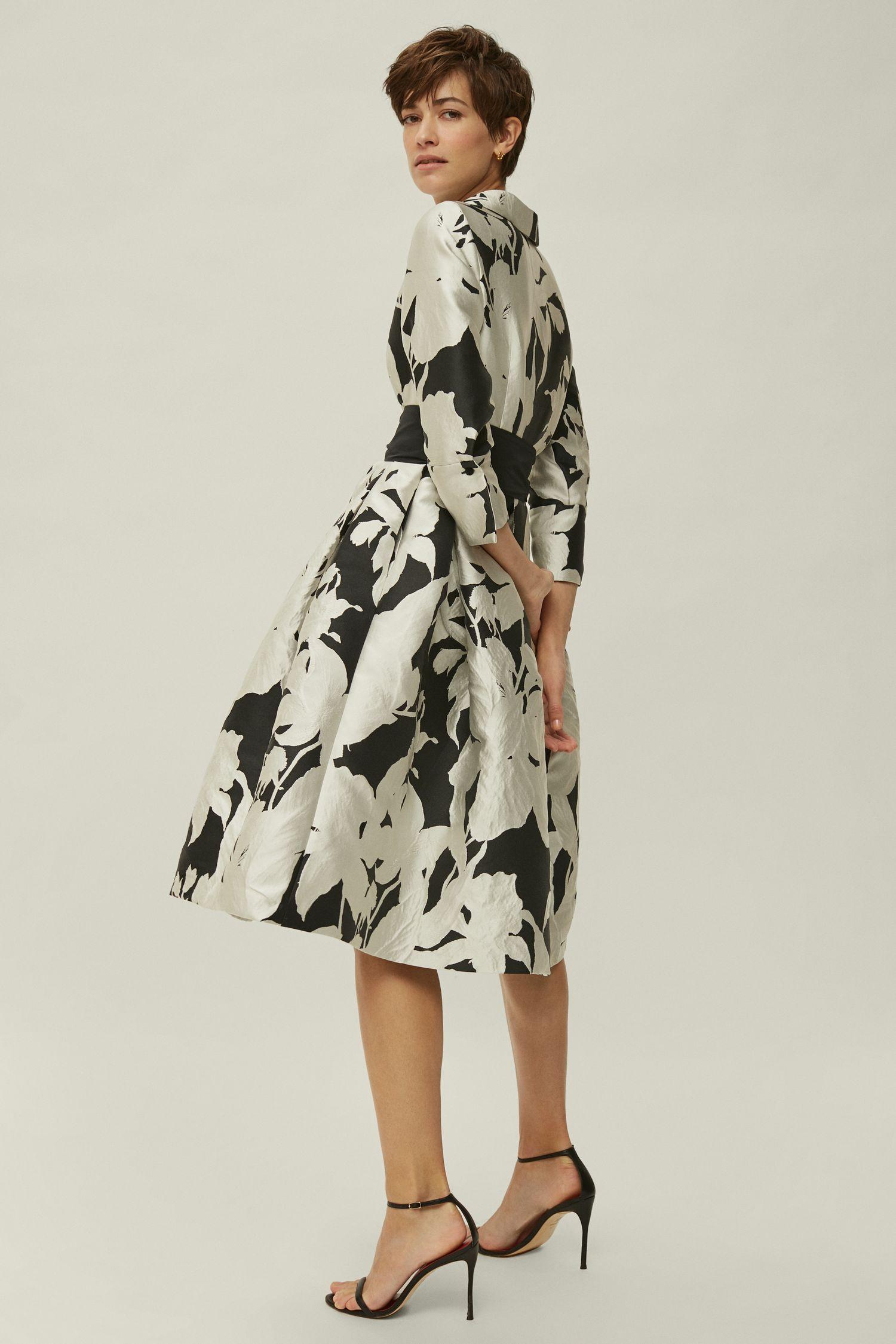 Brocade shirt dress