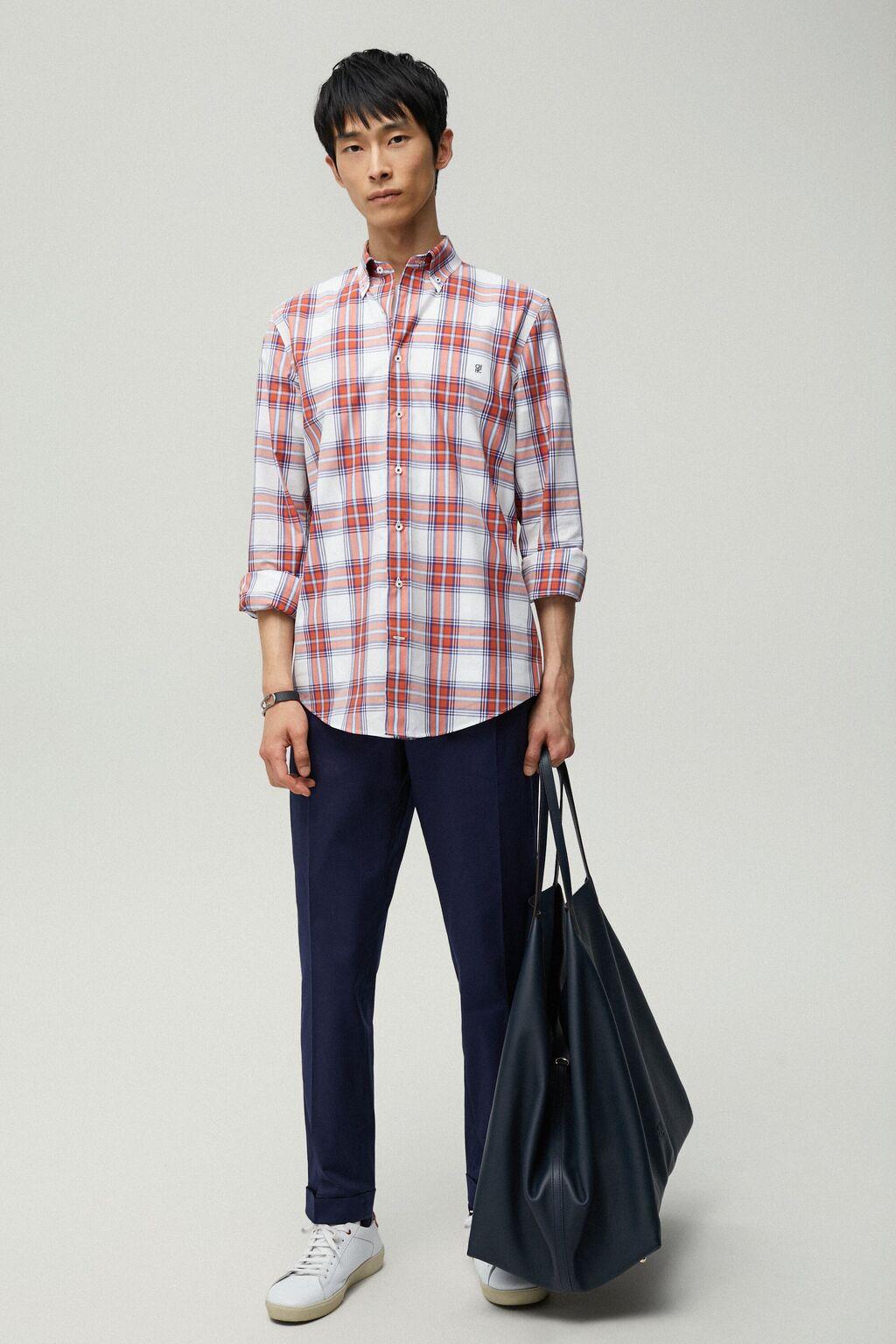Tartan poplin shirt