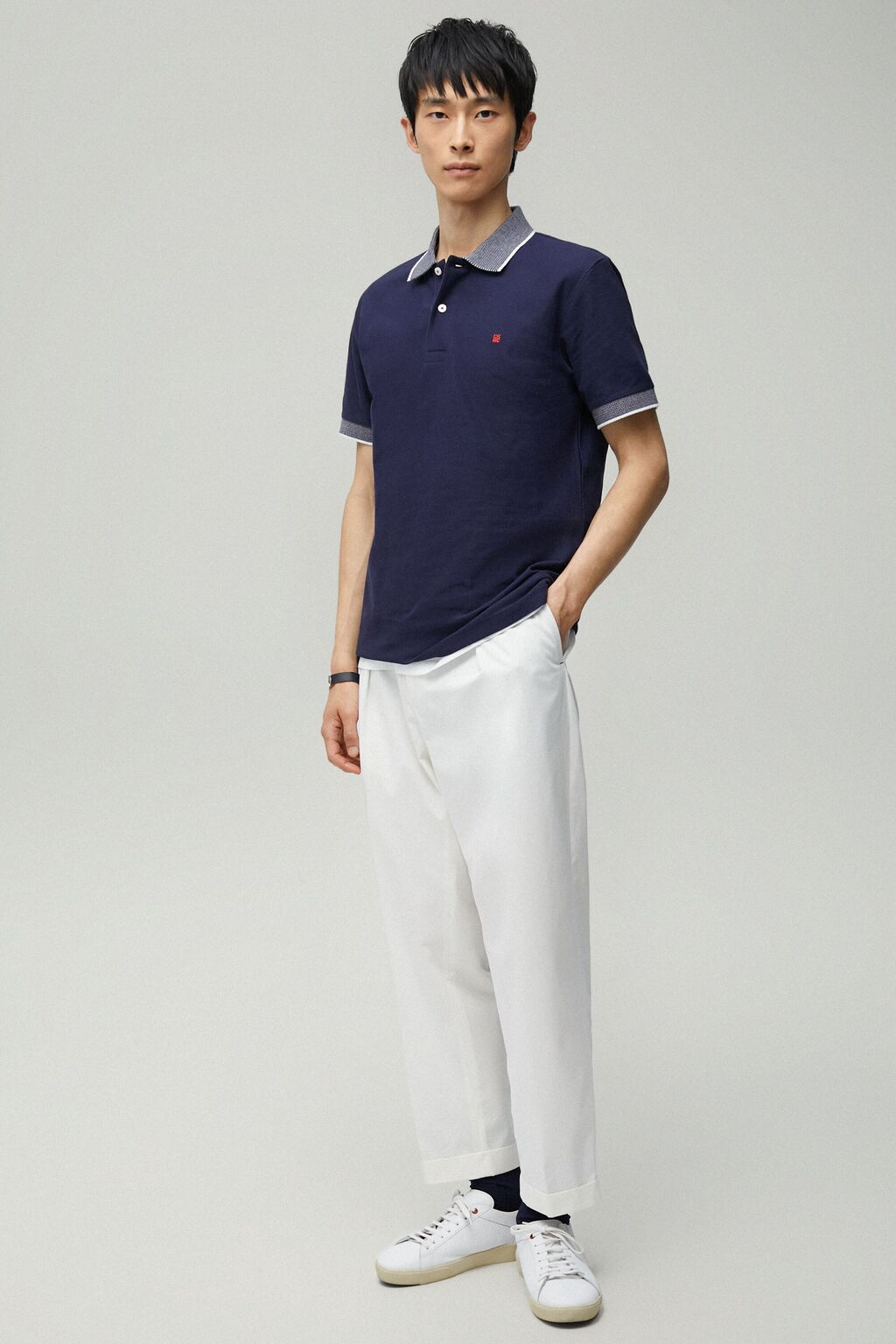Structured short sleeve polo shirt
