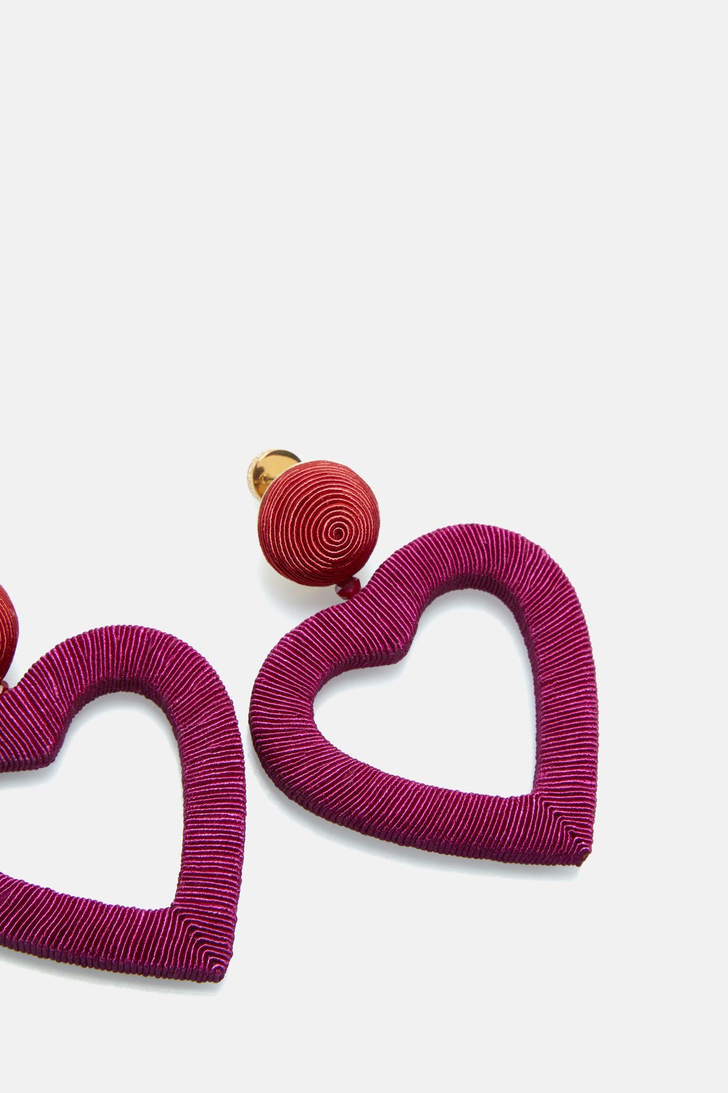 Monaco heart earrings
