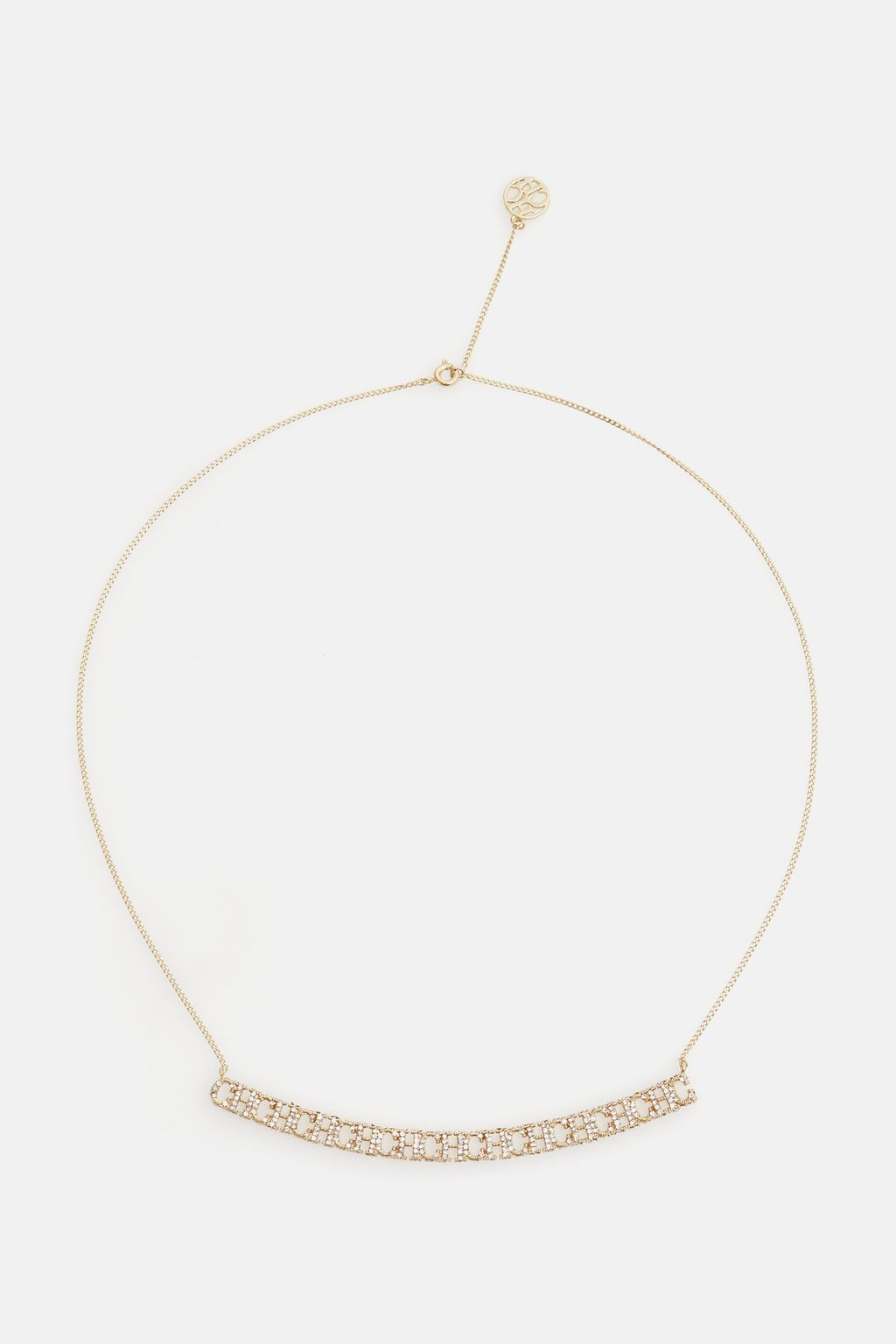Between the Line necklace with crystals