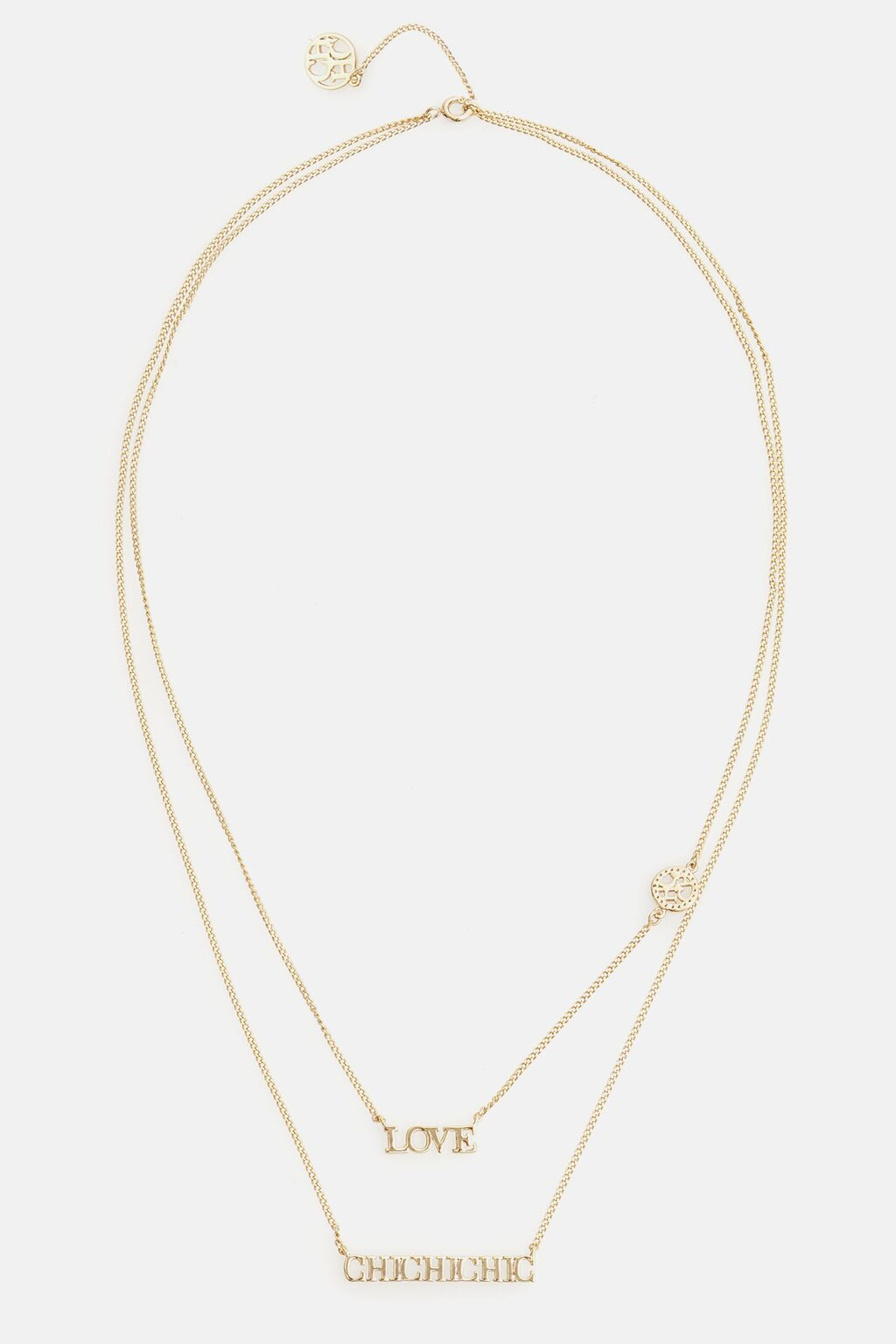 Between the Line layered necklace