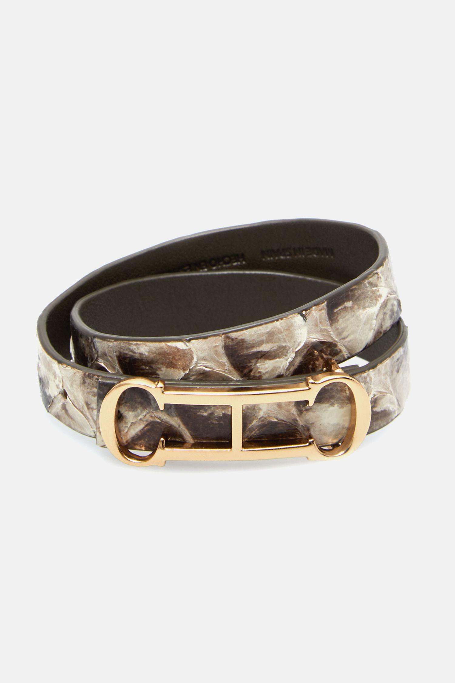 Insignia leather bracelet