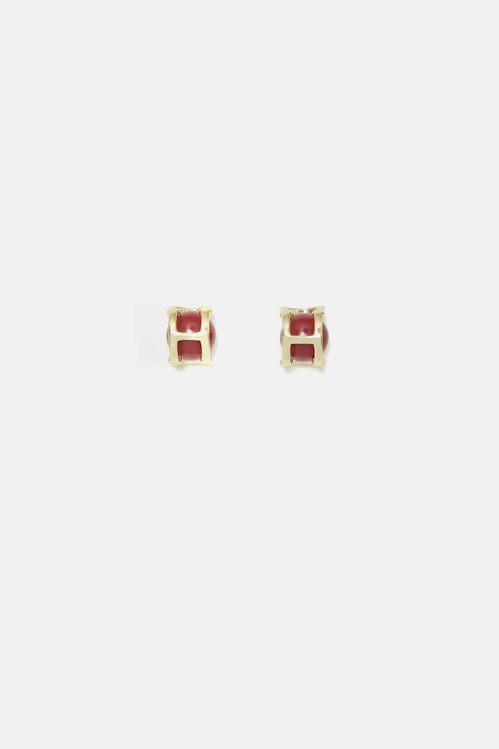 Initials Insignia earrings
