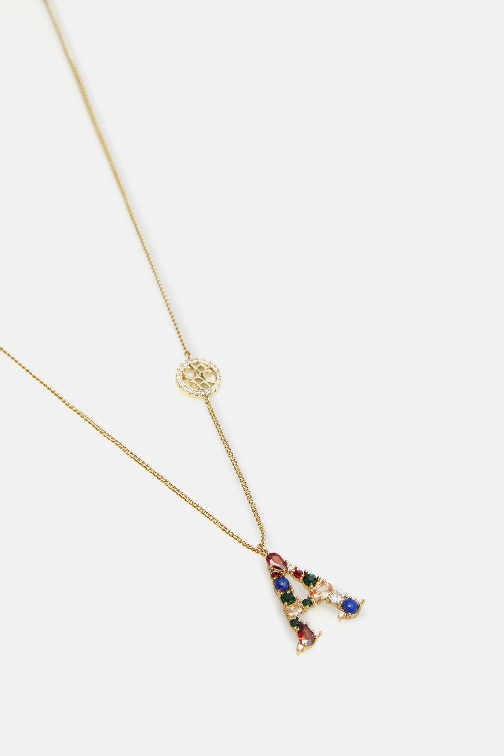 ABCH necklace letter A