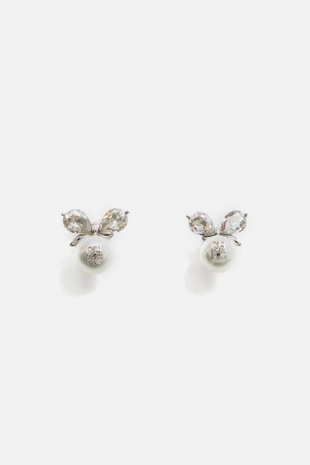 Crystal Ribbon earrings