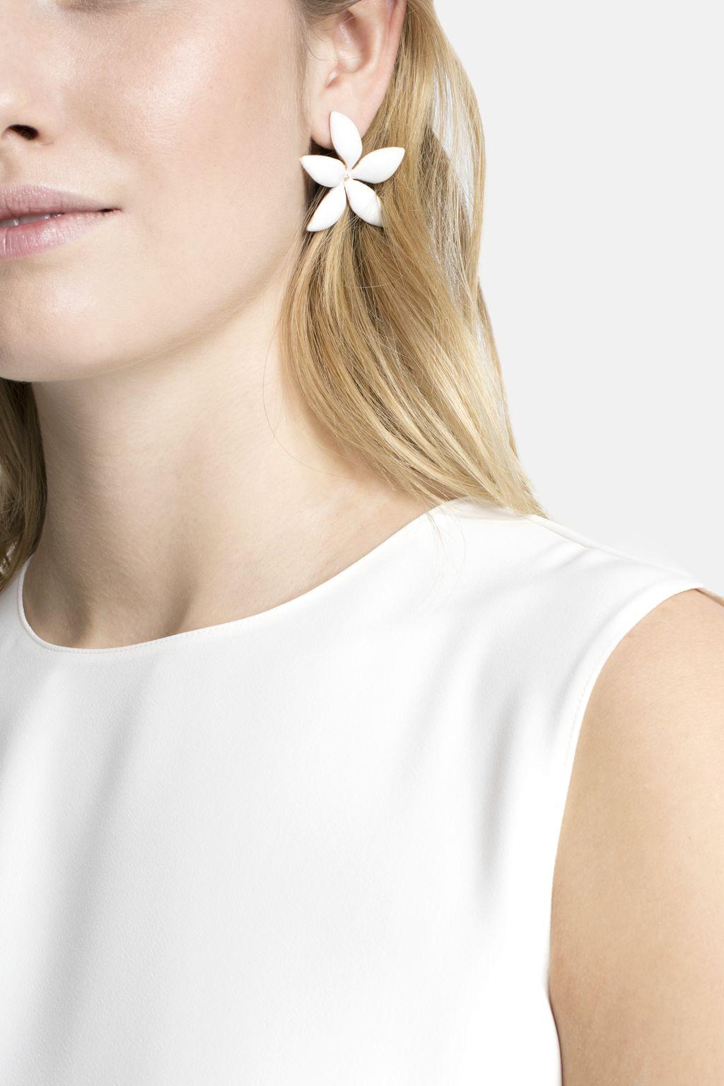 Falling Jasmine large single earring