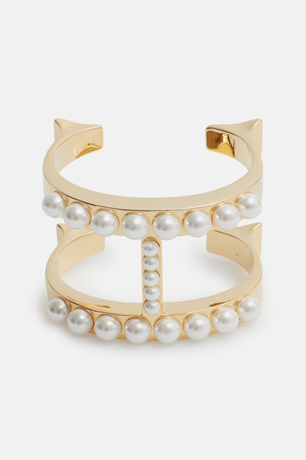 Insignia cuff with pearls