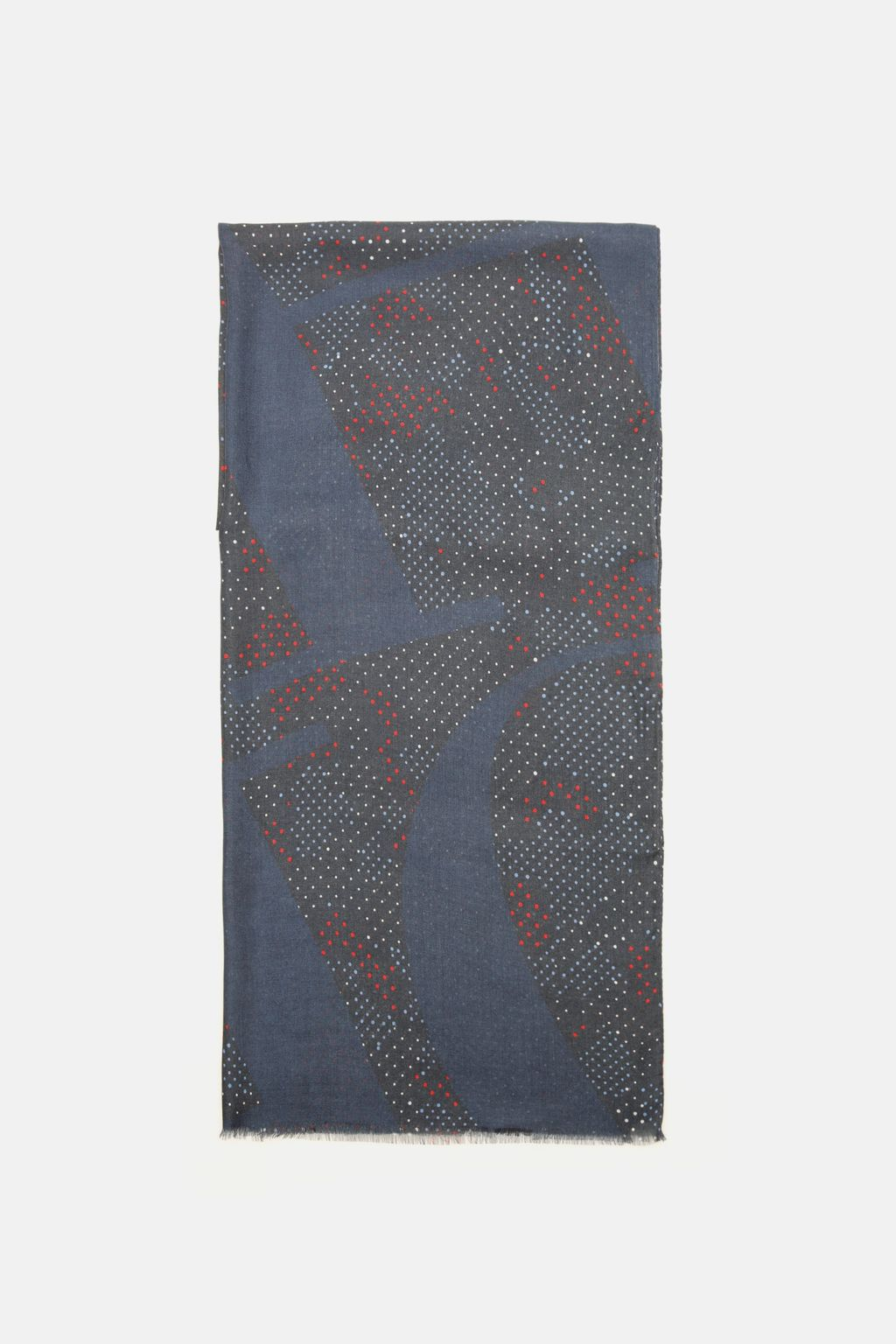 Camouflage modal pashmina with polka dots