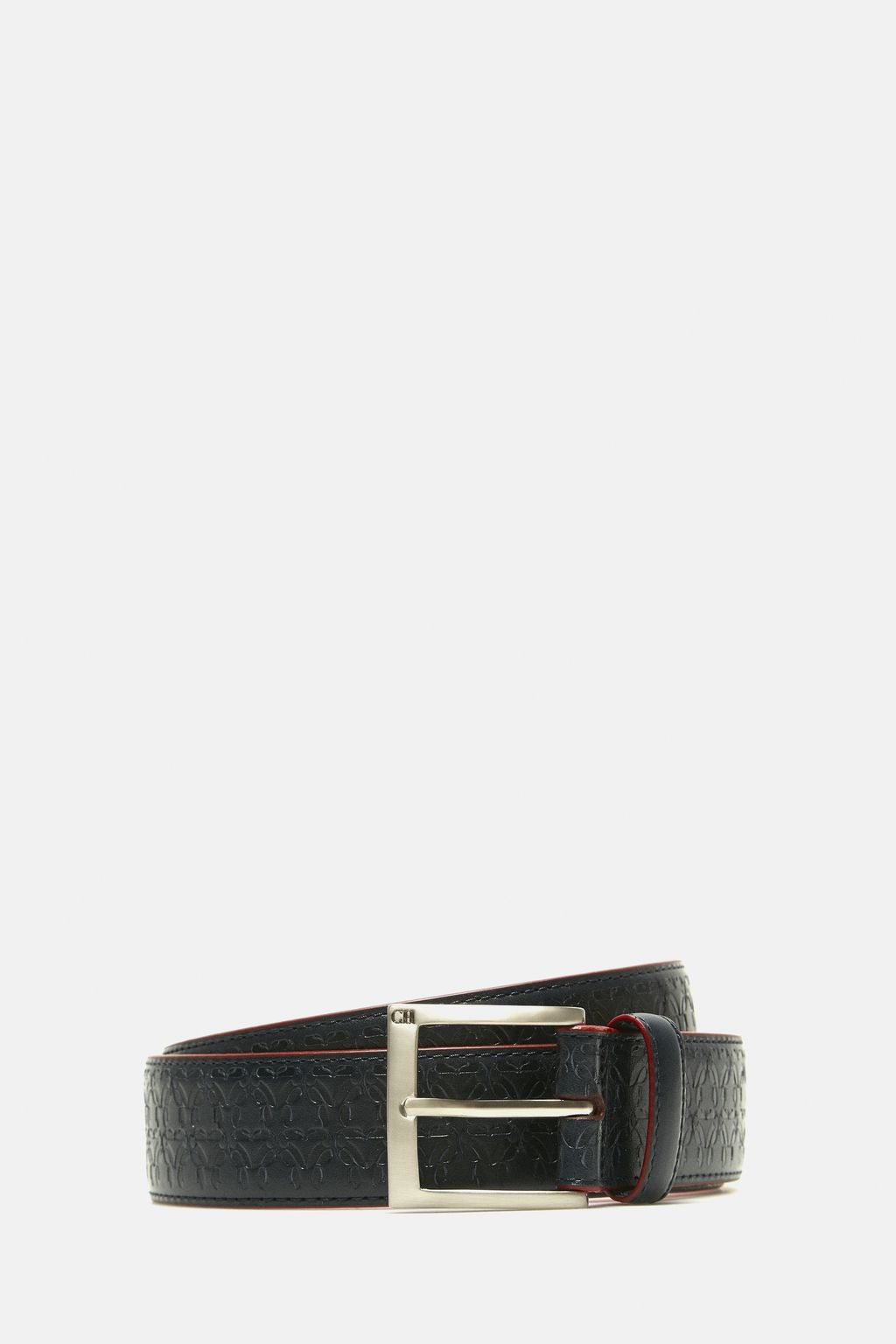 Touky embossed leather belt
