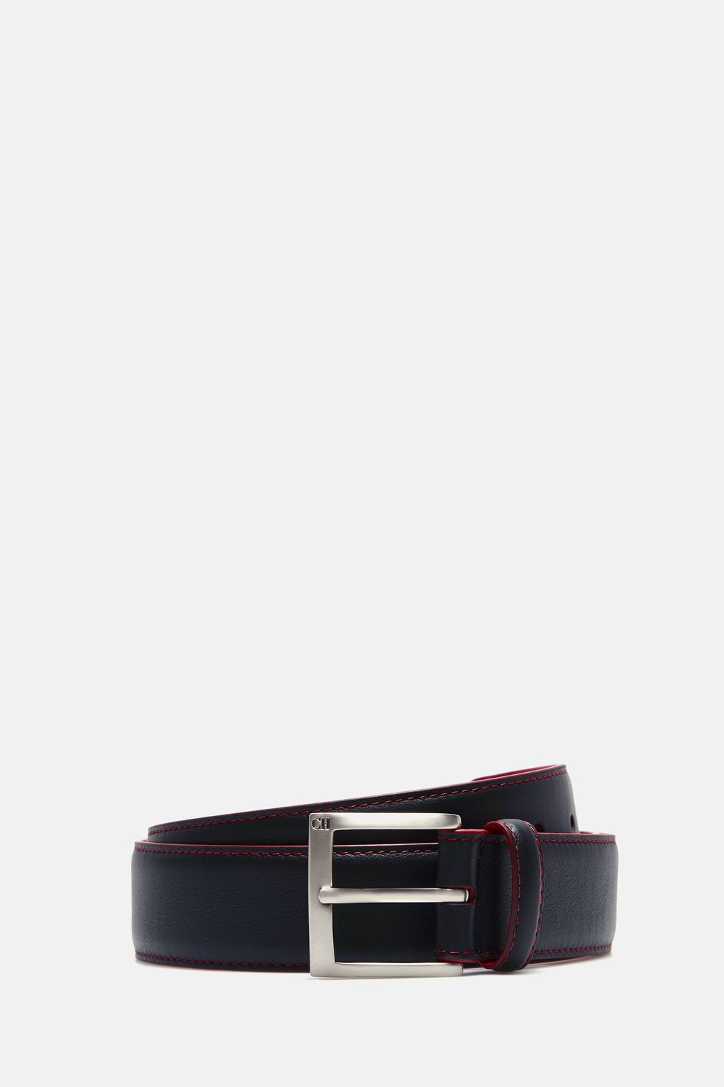 Perforated CH leather belt