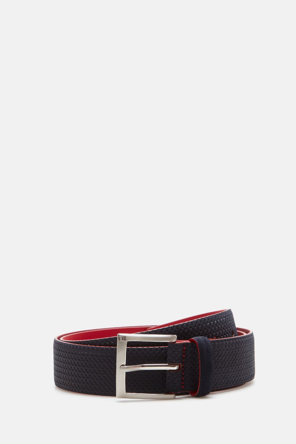 Braided-effect suede belt