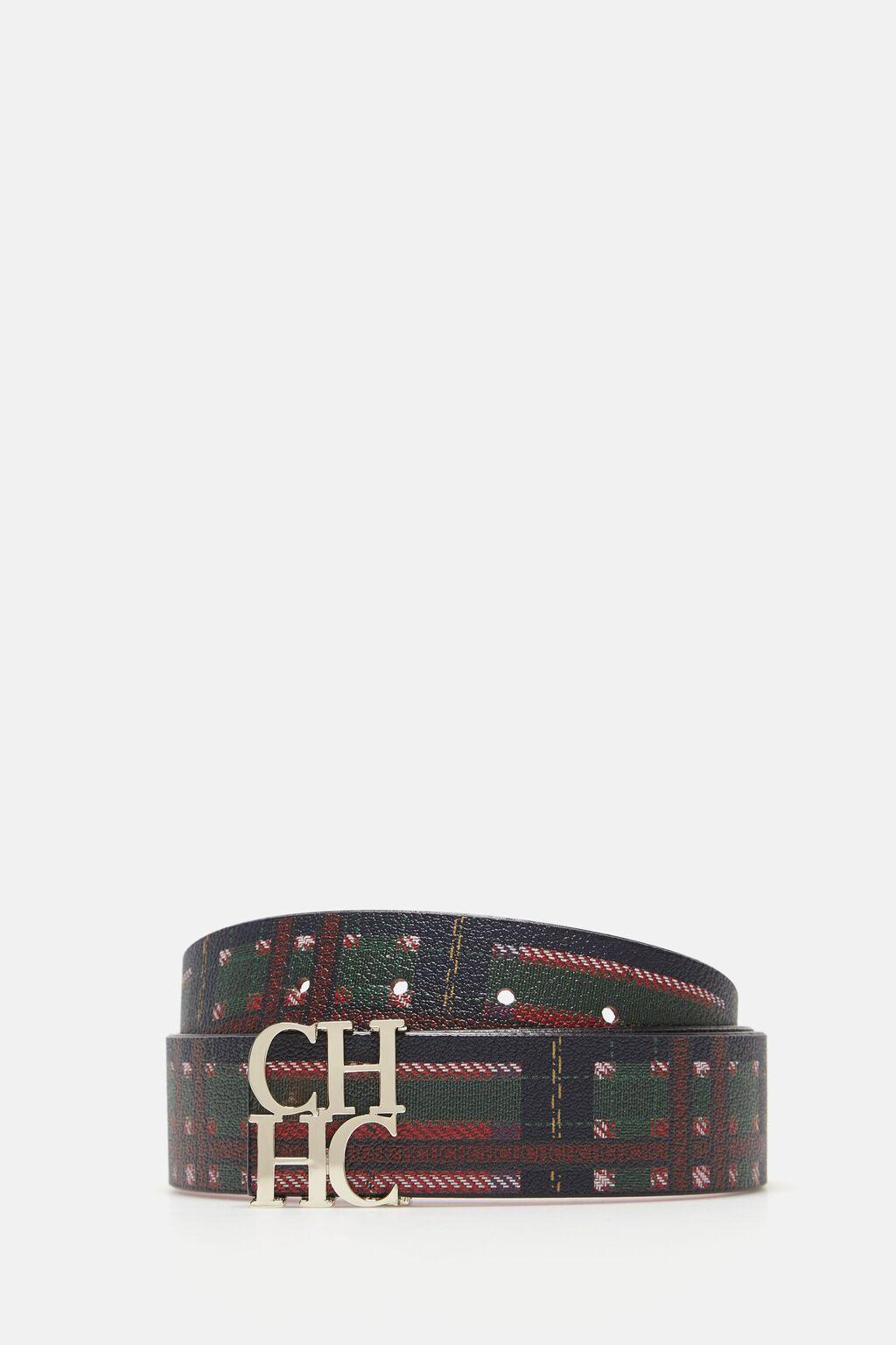 Tartan check belt