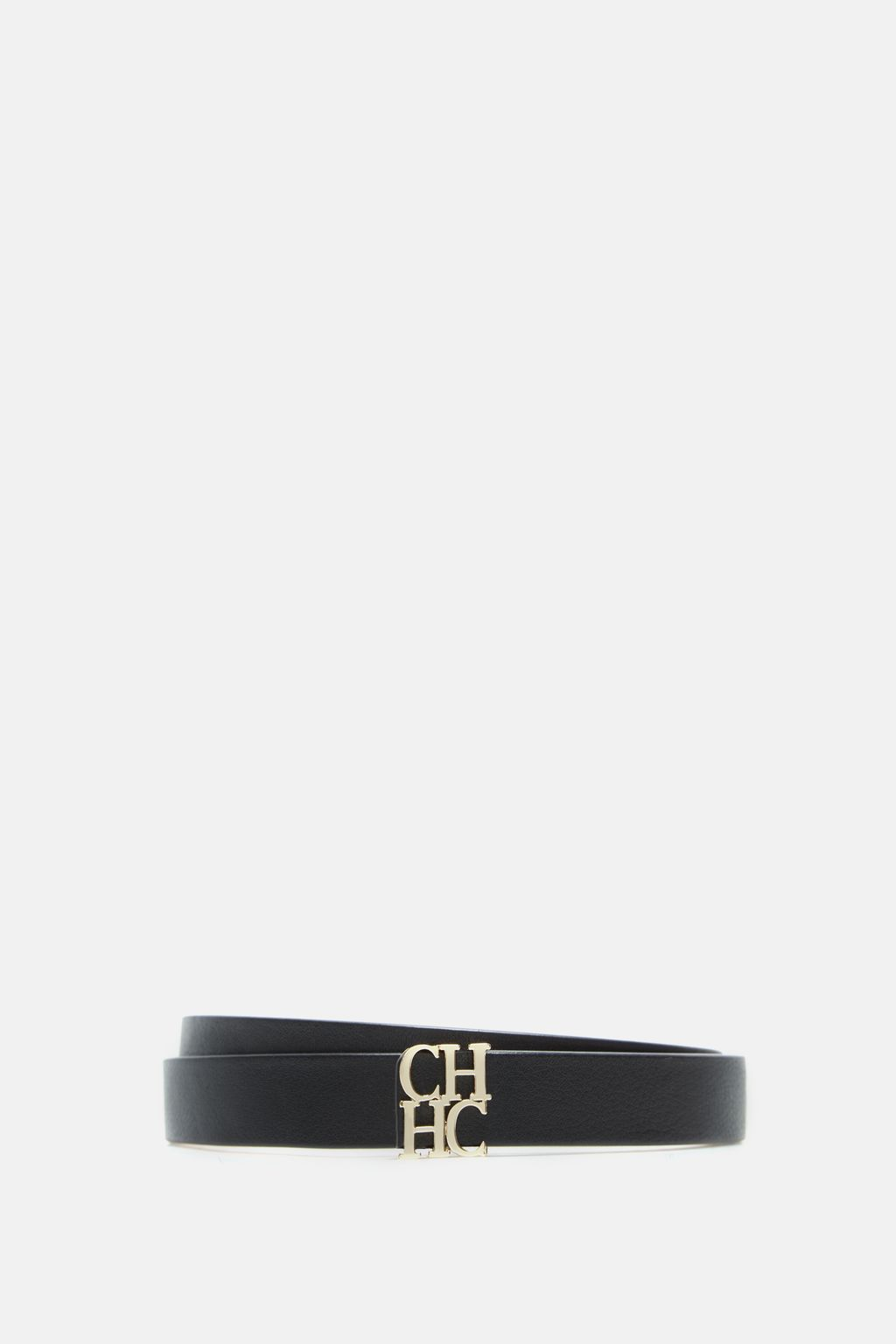 CH skinny leather belt