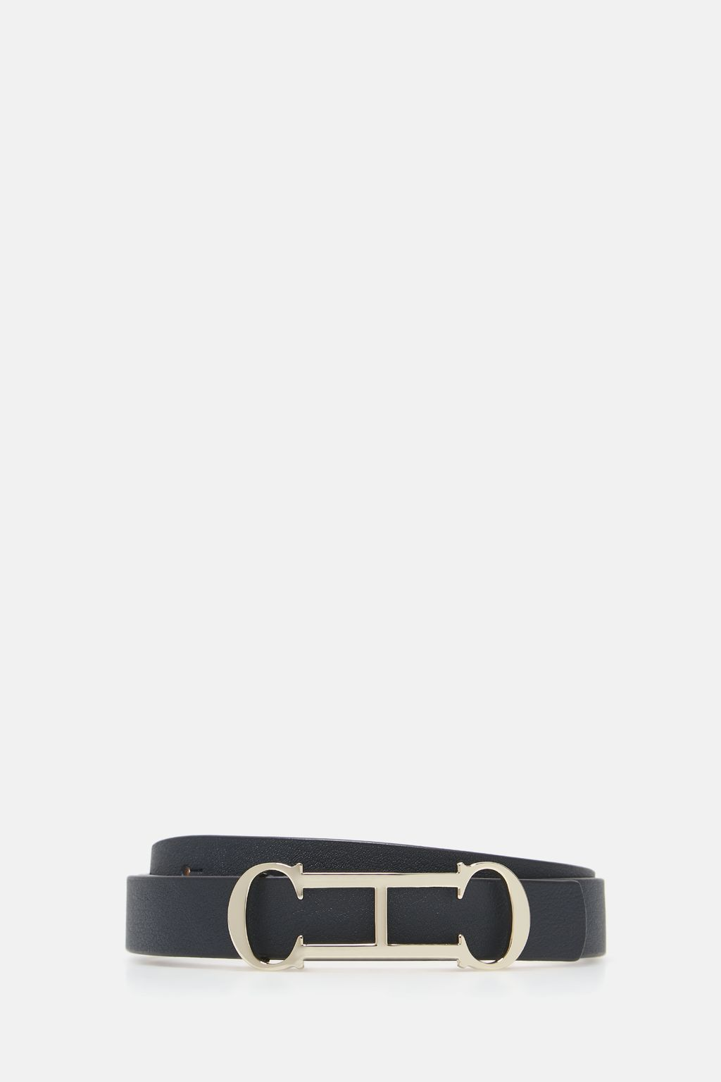 Insignia leather belt