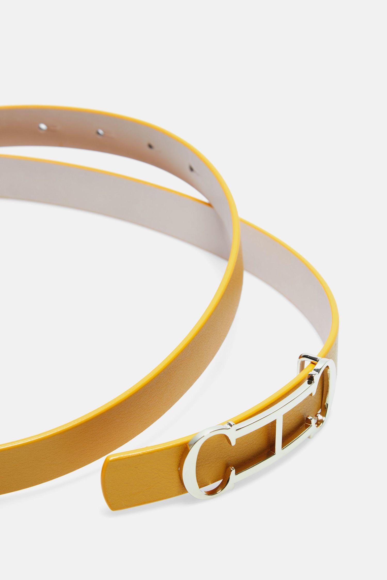 Insignia leather belt