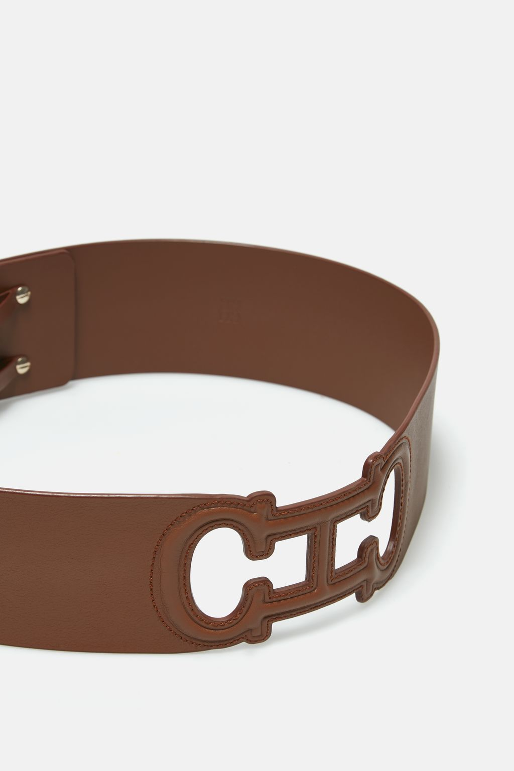 Initials Insignia perforated leather belt
