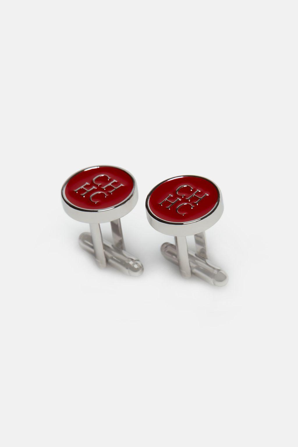 CH enamel cufflinks
