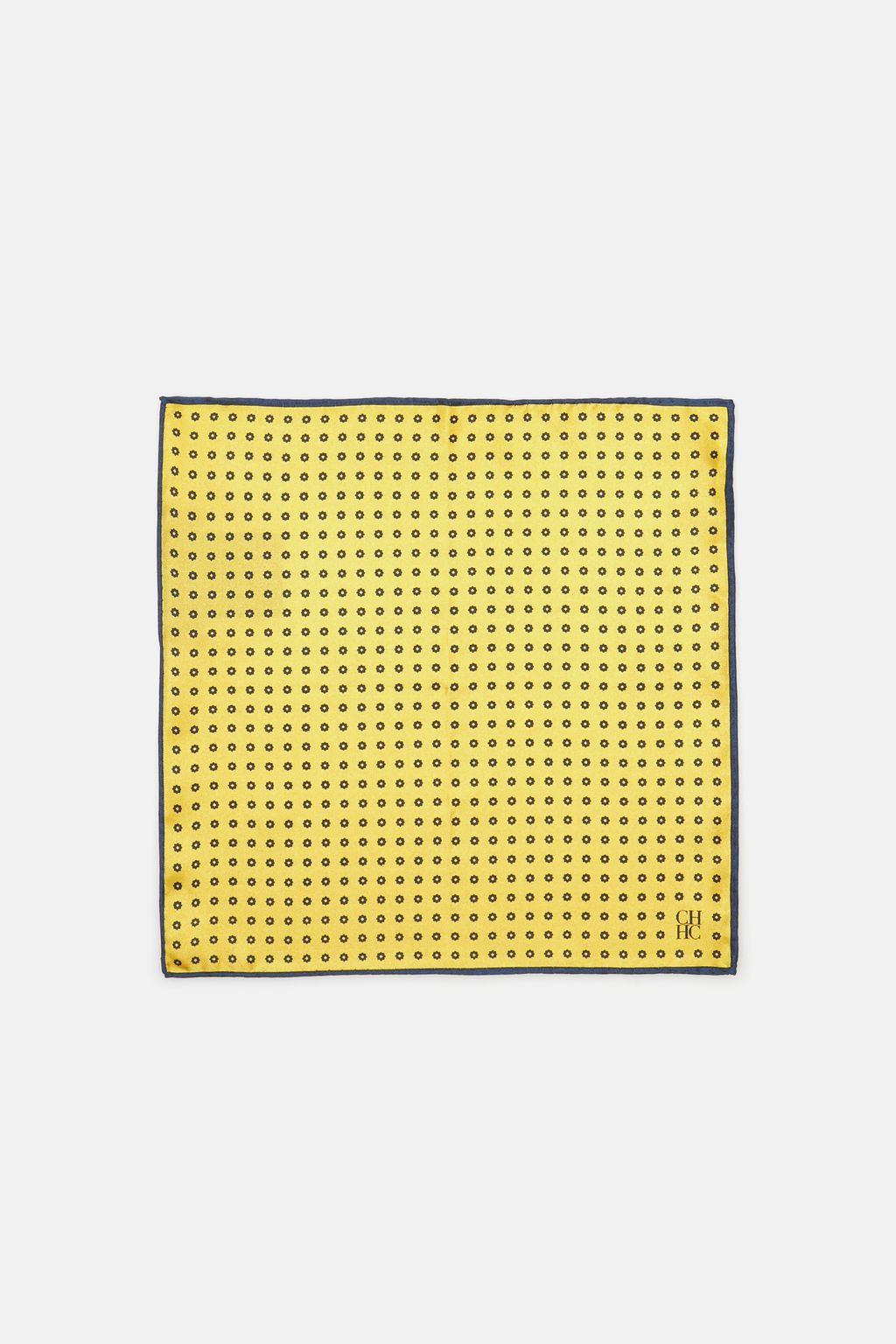 Polka dot silk pocket square