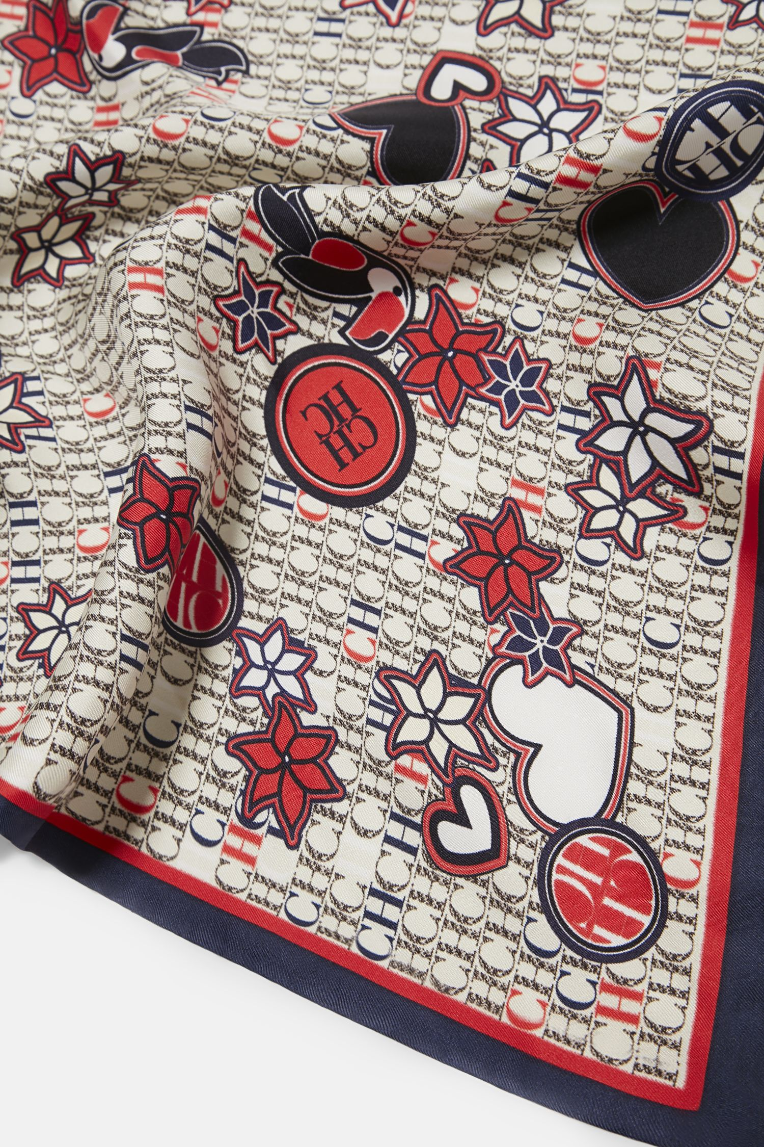 Icon Patches silk scarf