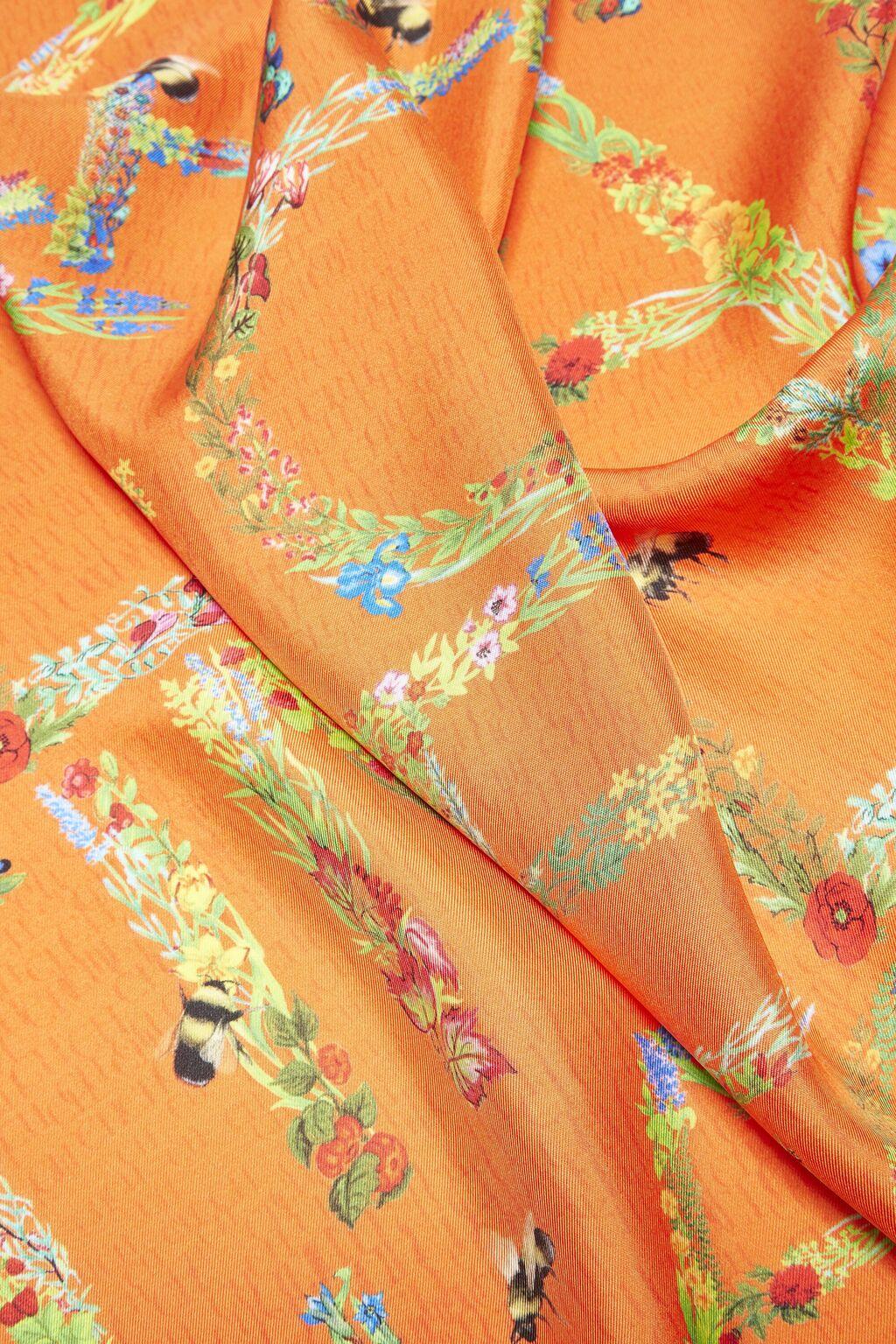 Wild Garden silk scarf