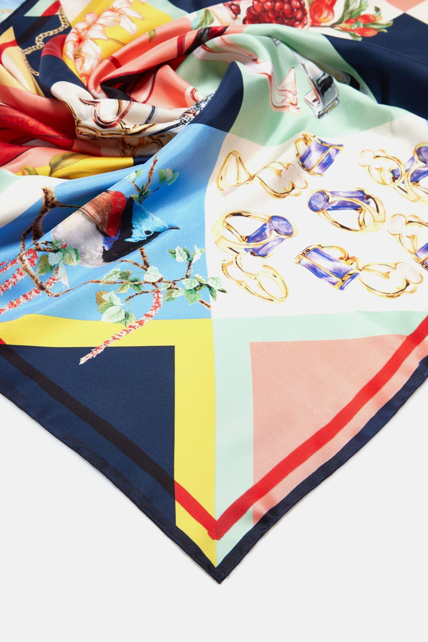 CH Icons silk scarf