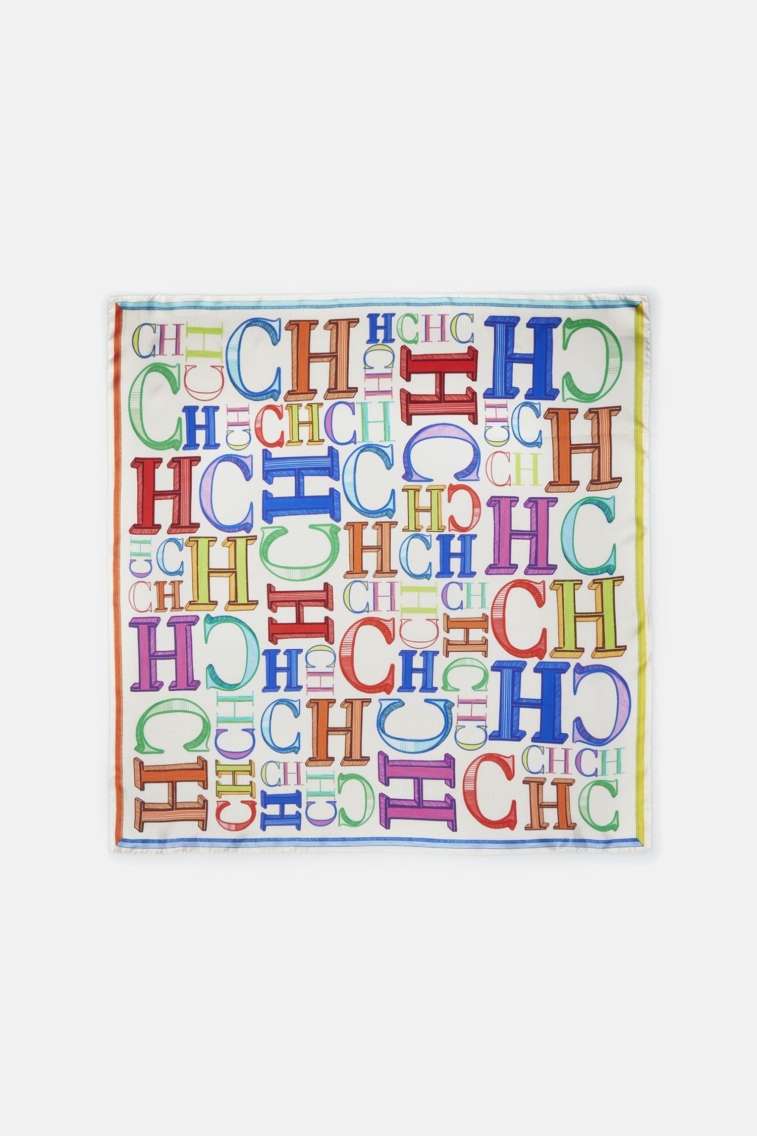 CH Bold silk scarf