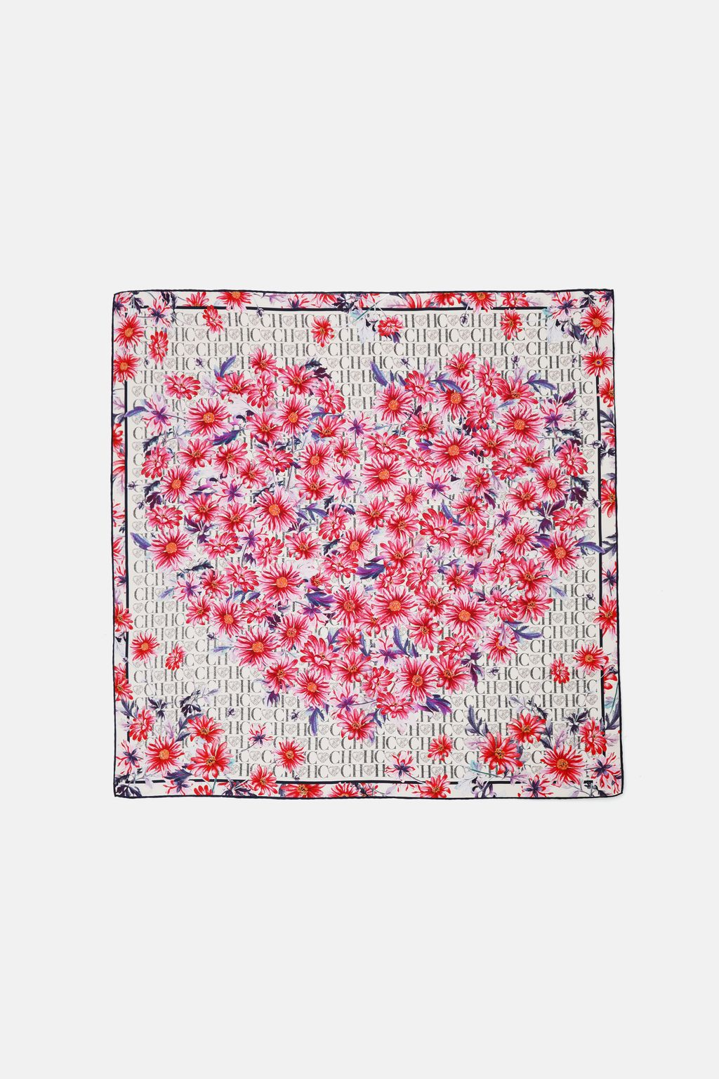 Blooming Heart silk scarf
