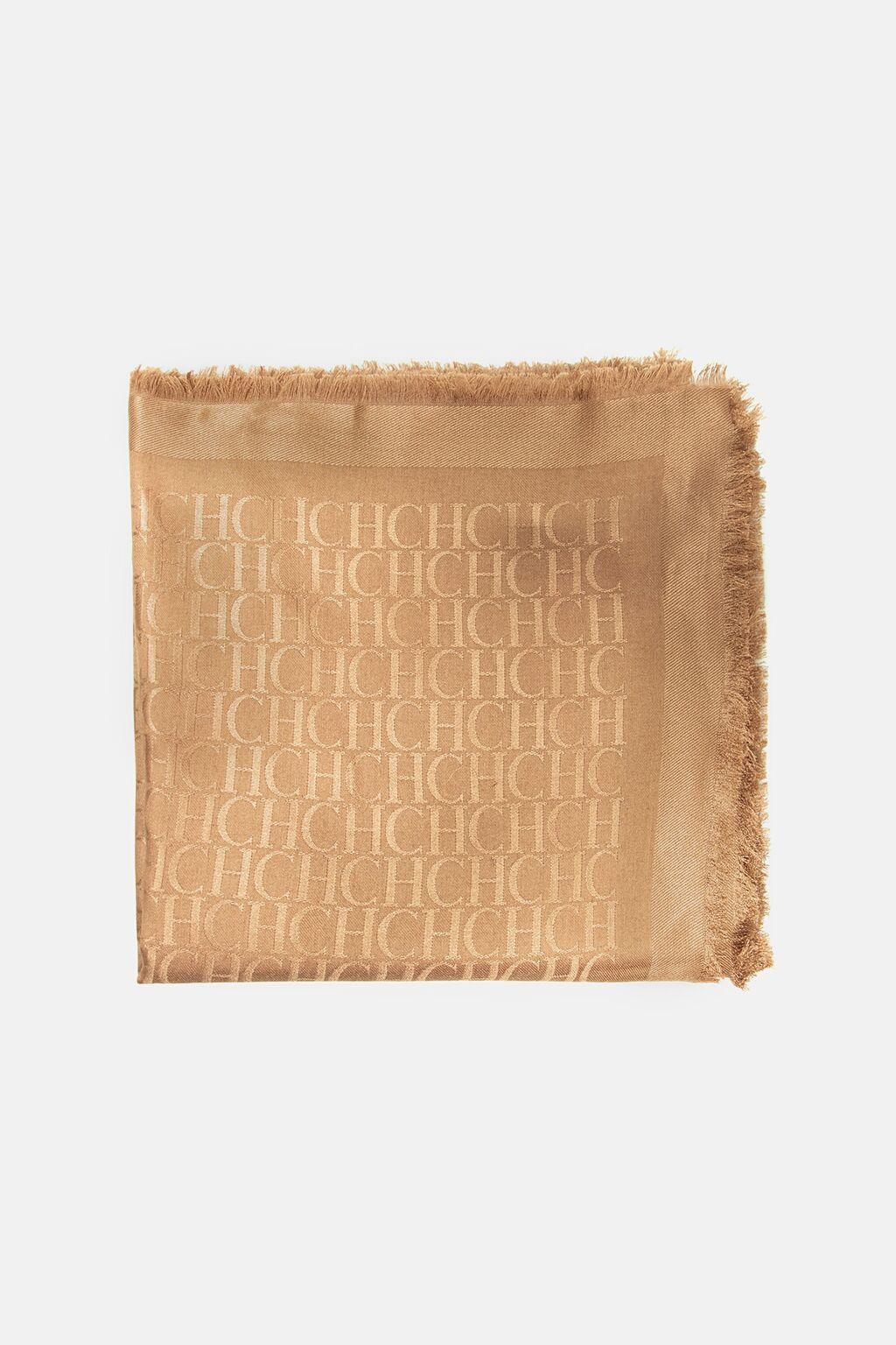 CH jacquard shawl