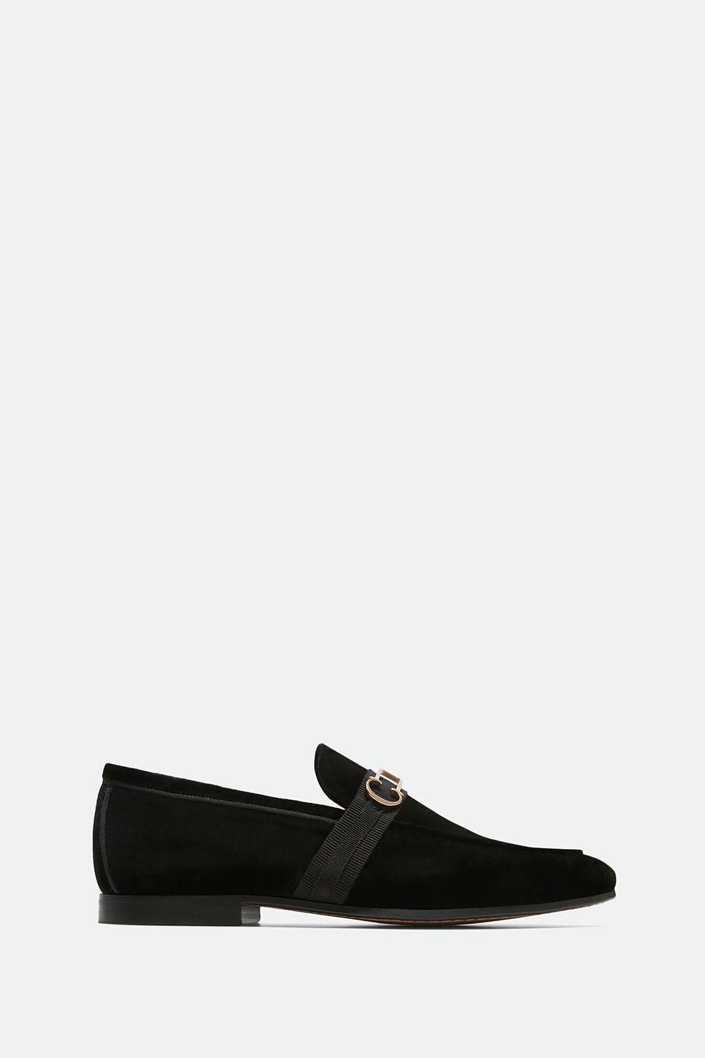 Insignia velvet loafers