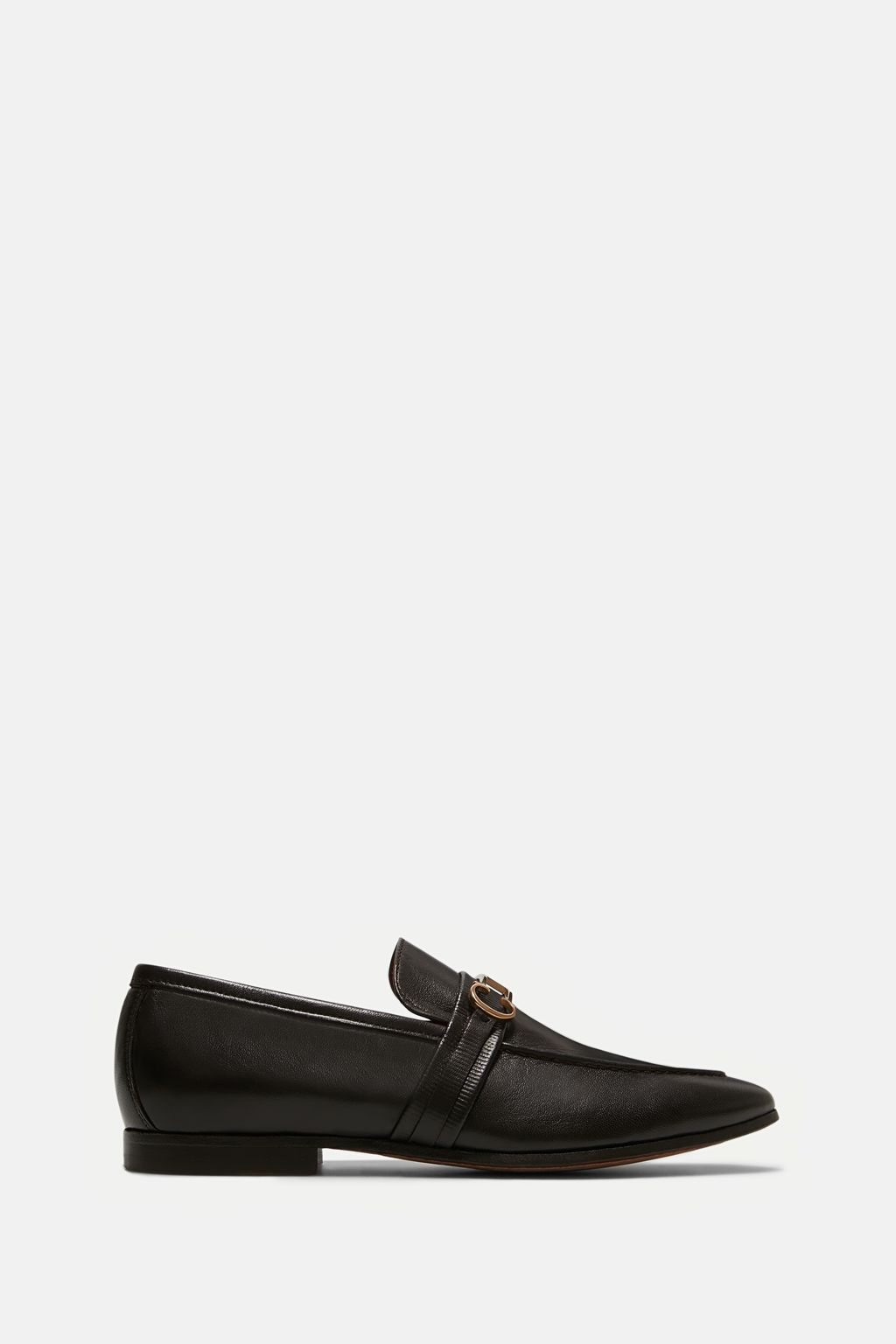 Insignia leather loafers
