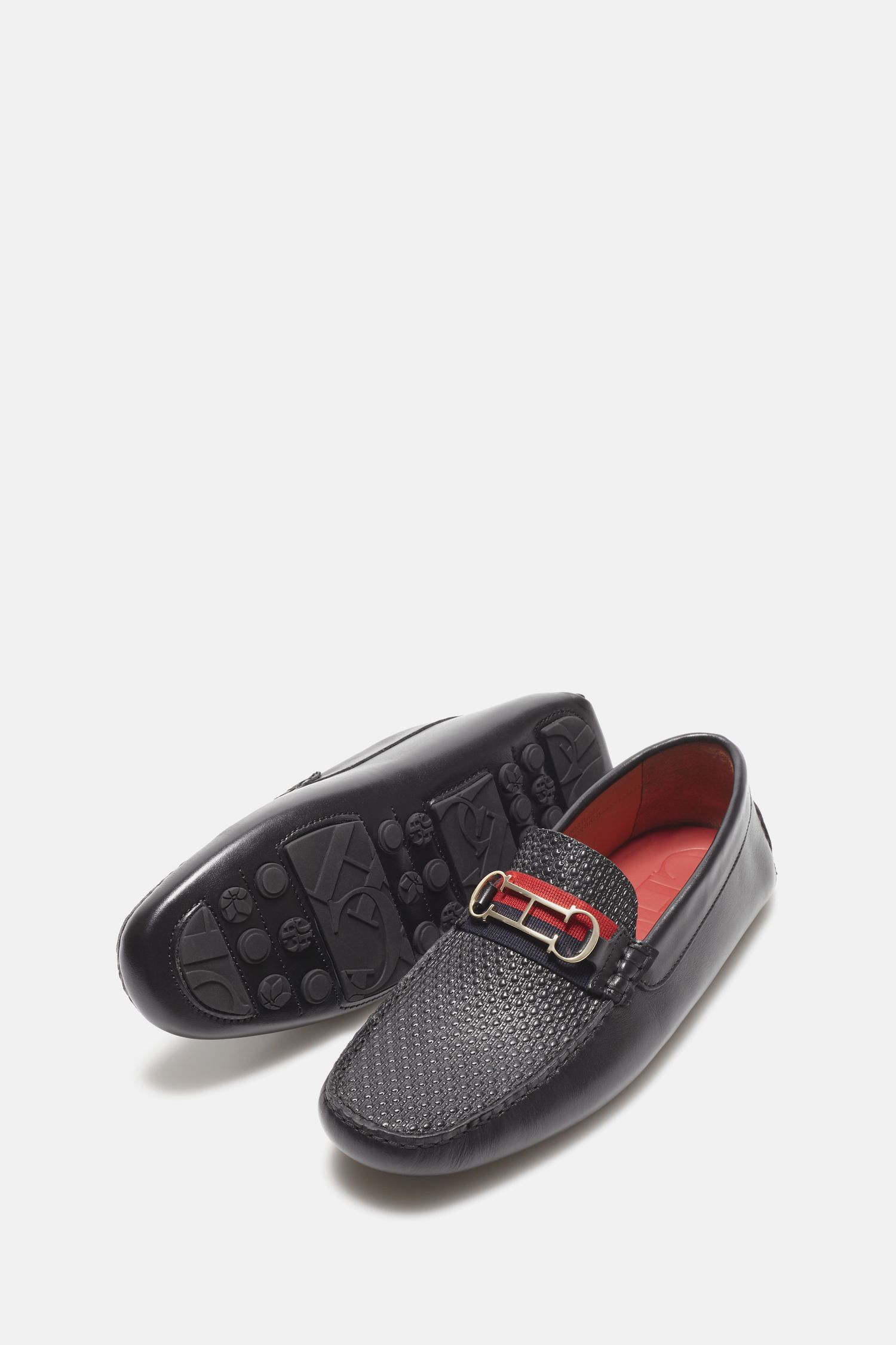Insignia leather driver loafers