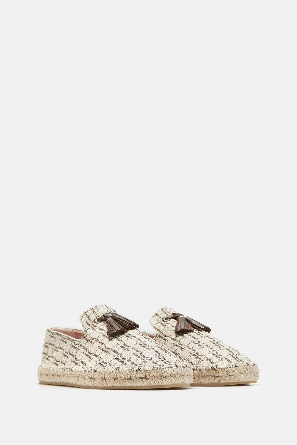 Canvas espadrilles with tassel