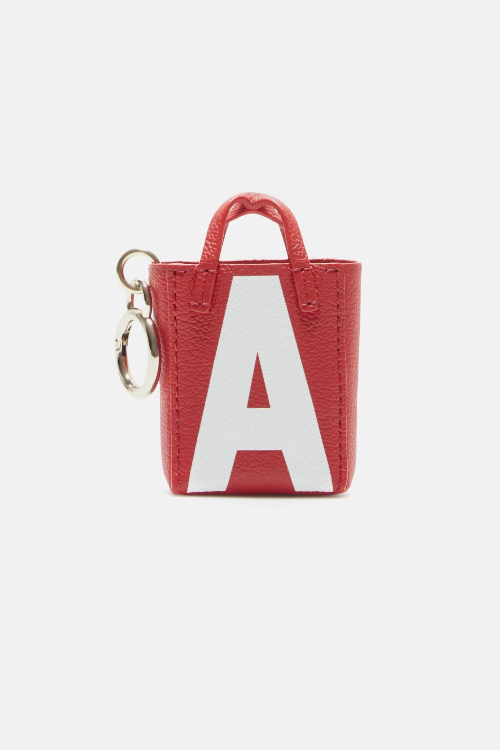 Letter A tote bag charm
