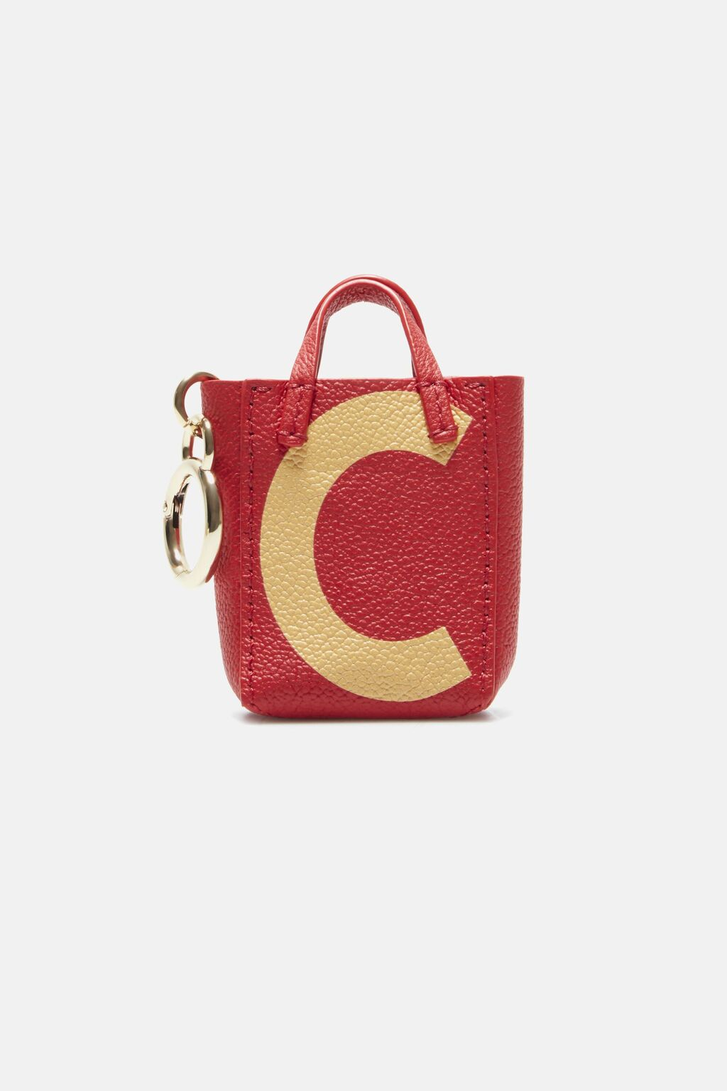 Letter C tote bag charm