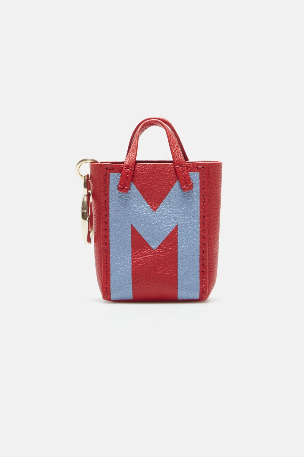 Letter M tote bag charm