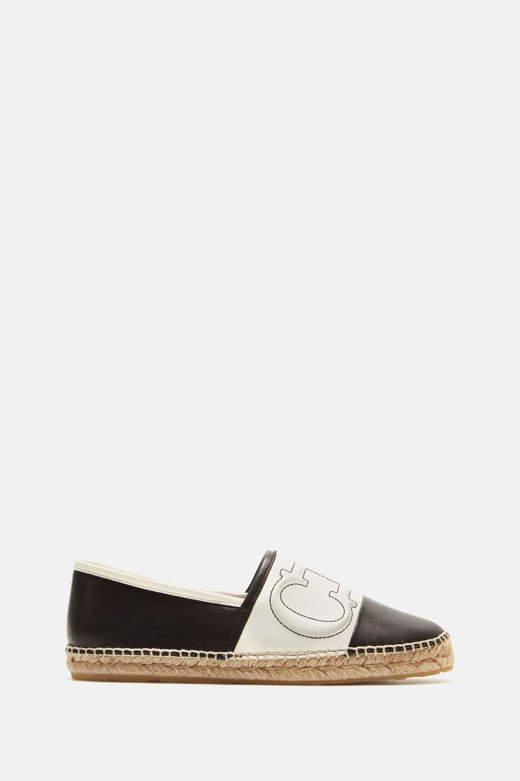 Initials Insignia leather espadrilles