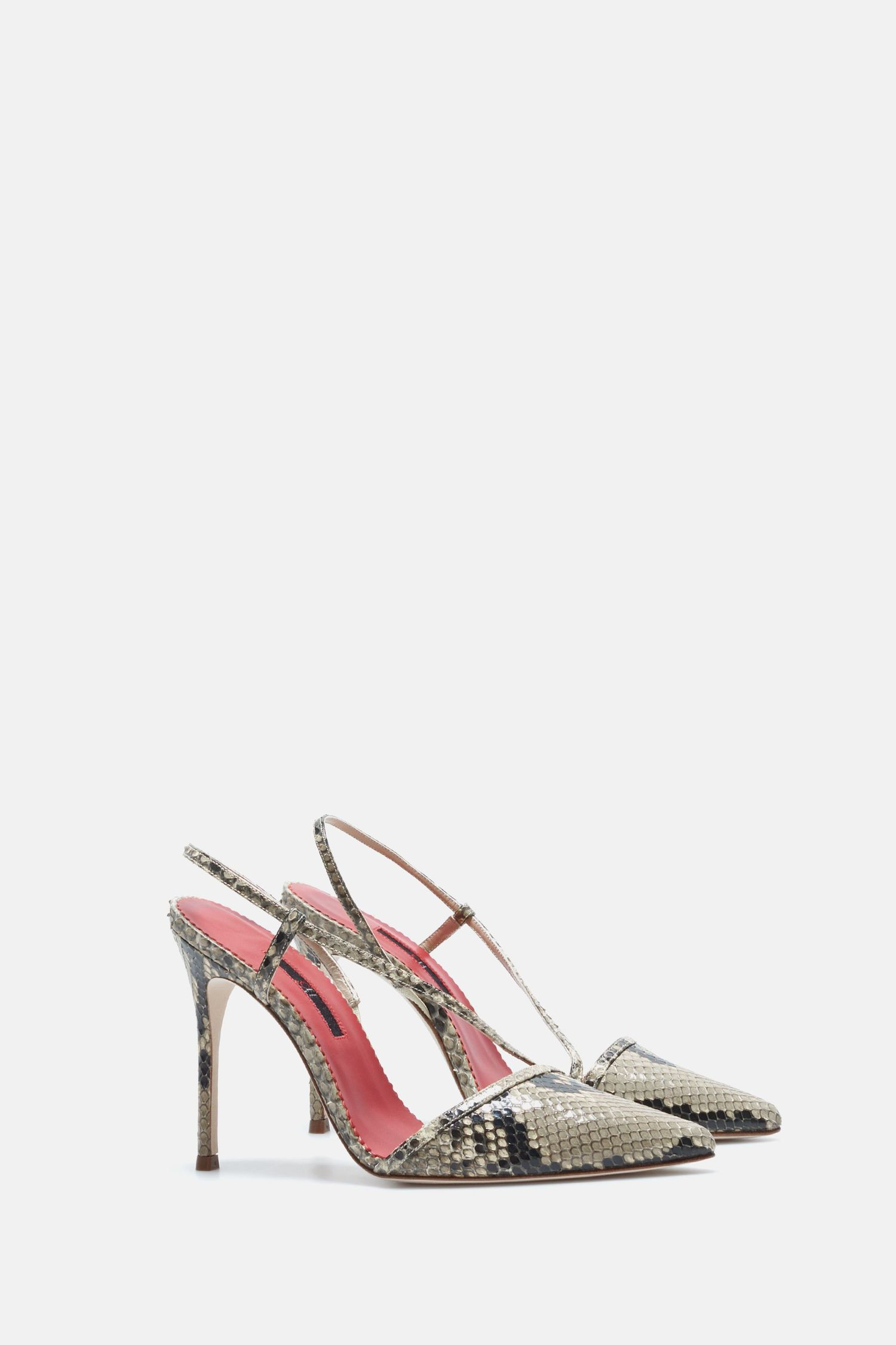 Python pumps with straps