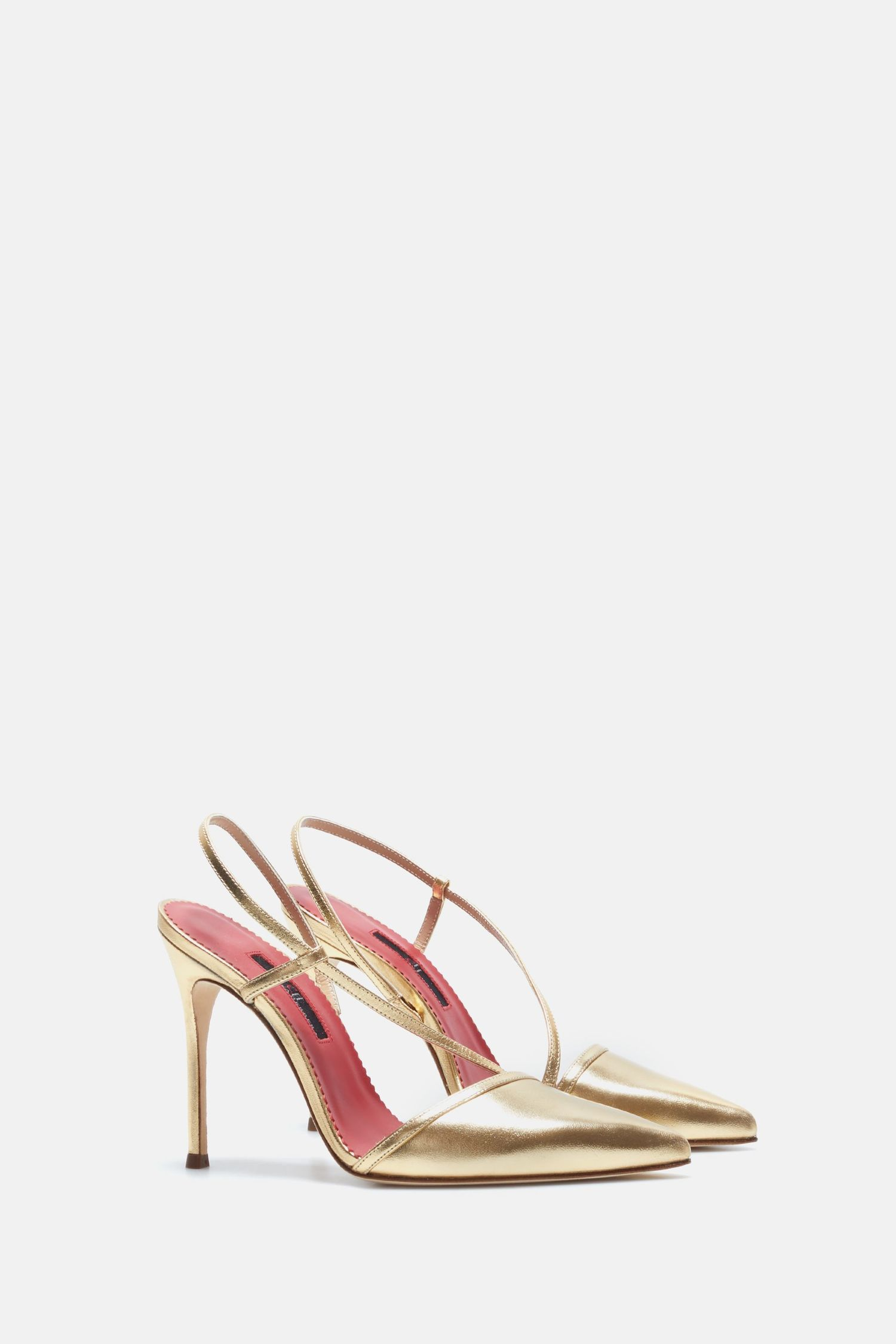 Napa leather pumps with straps