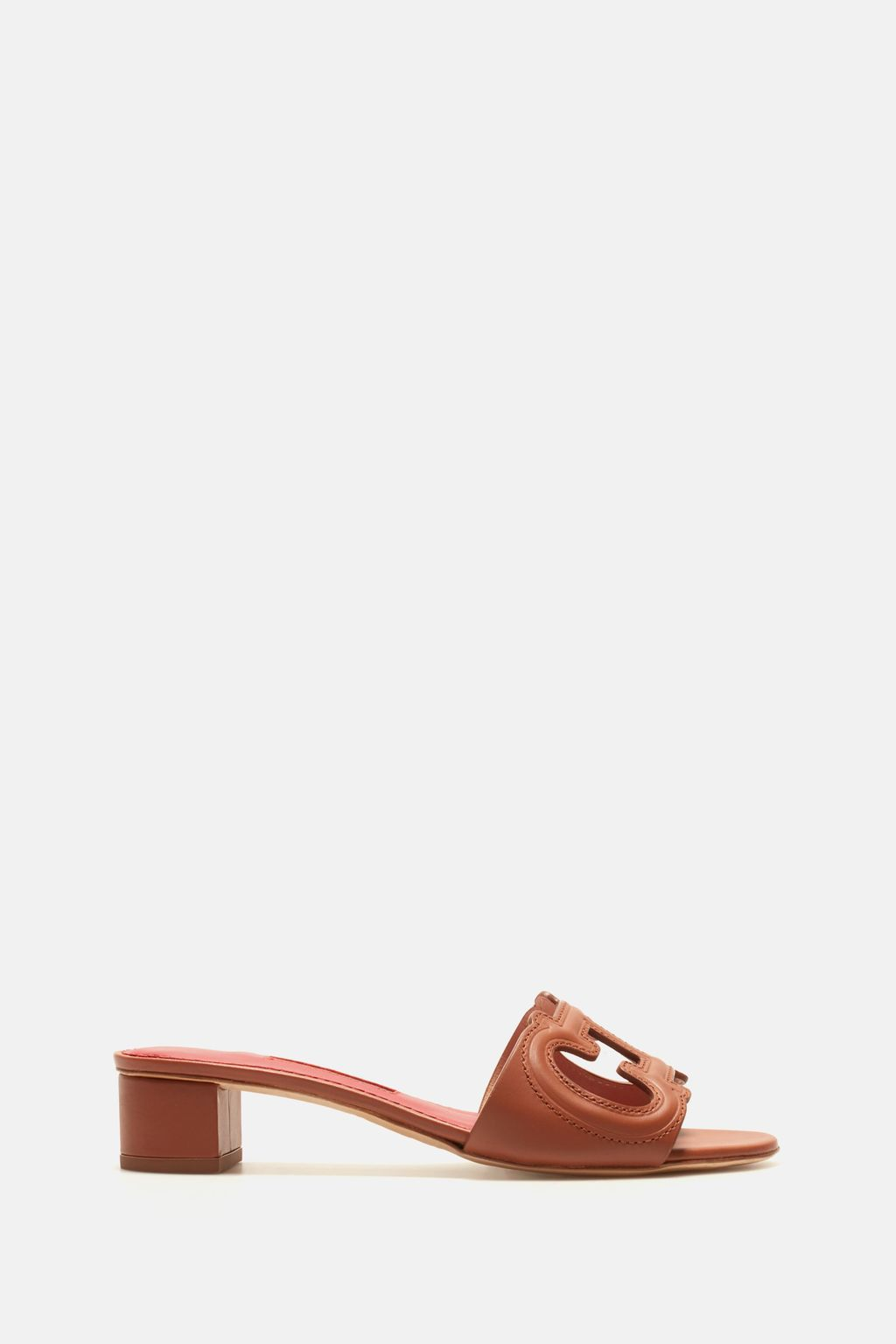 Initials Insignia cutout Napa leather sandals