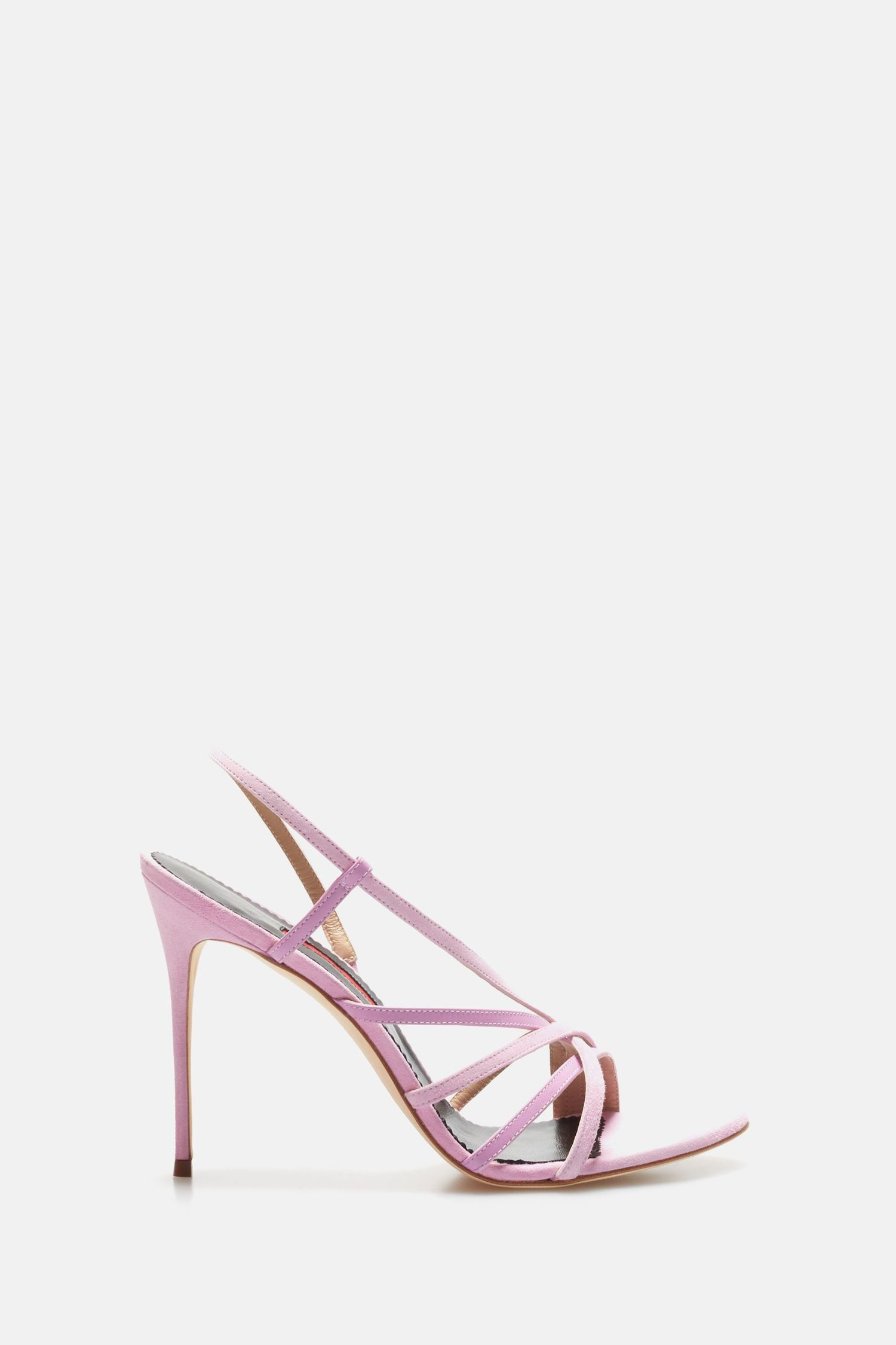 Leather and suede sandals with straps
