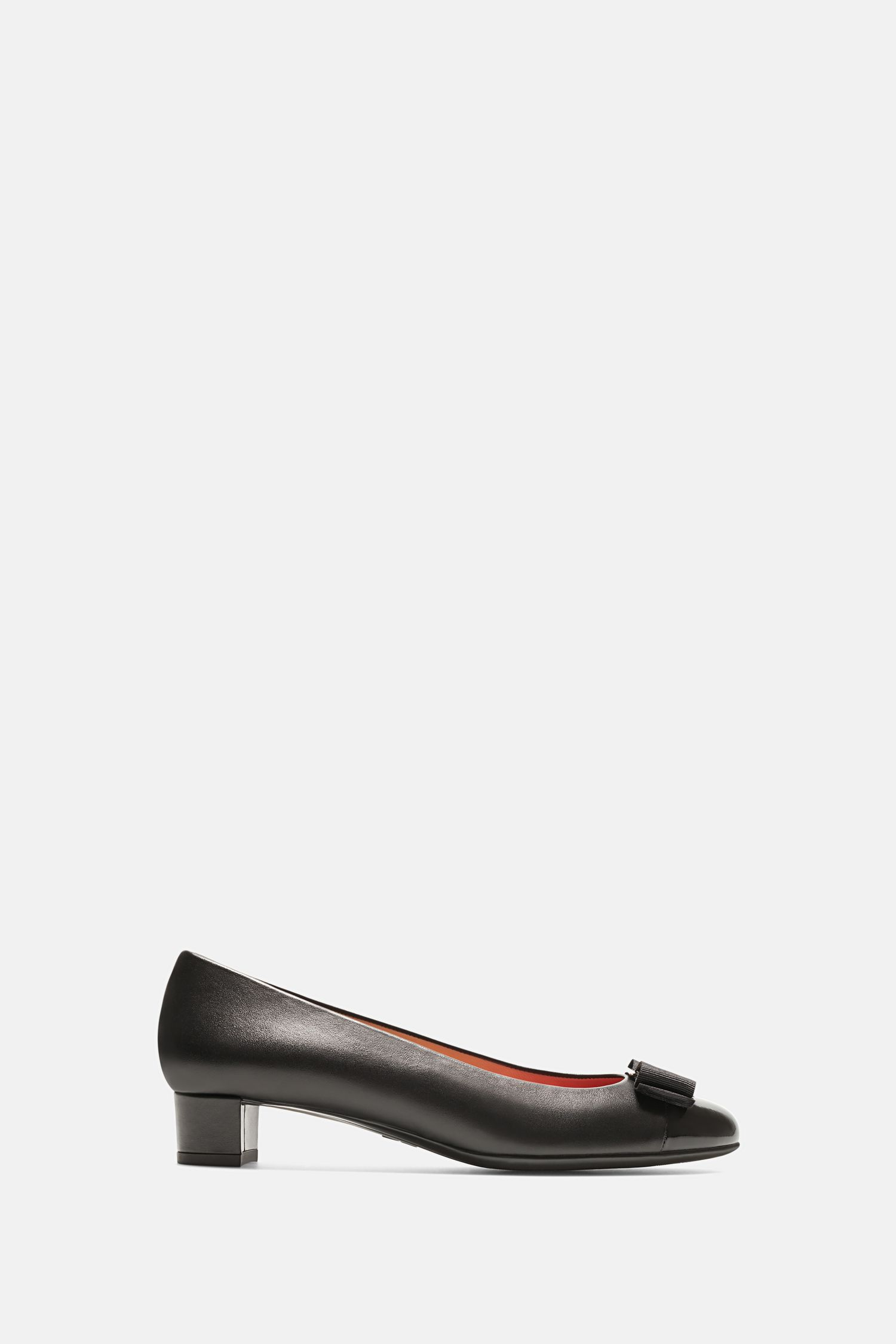 0c5fec09387bc BLACK Napa leather low pumps - Flats CH Carolina Herrera | Napa ...