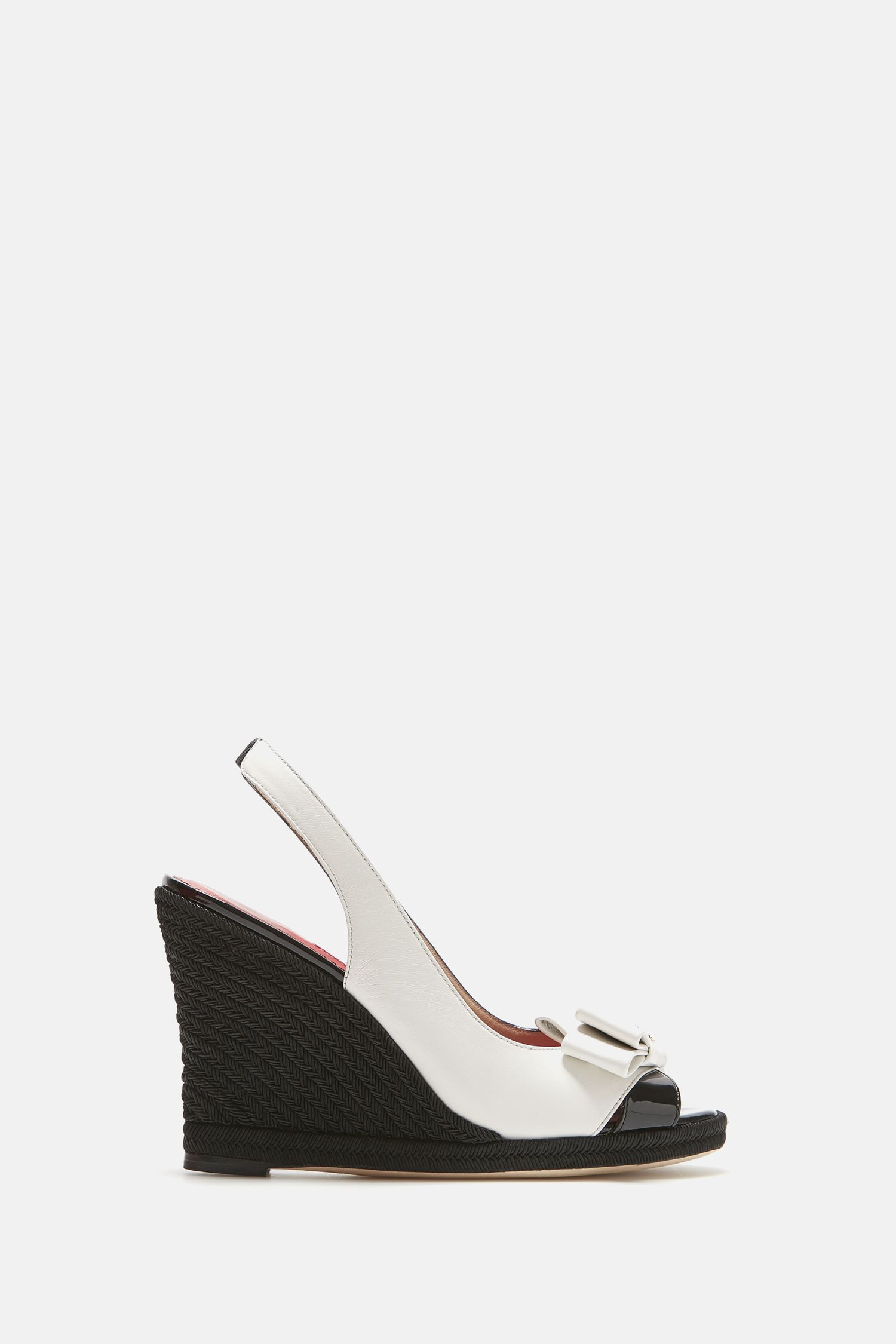 Leather wedges with bow